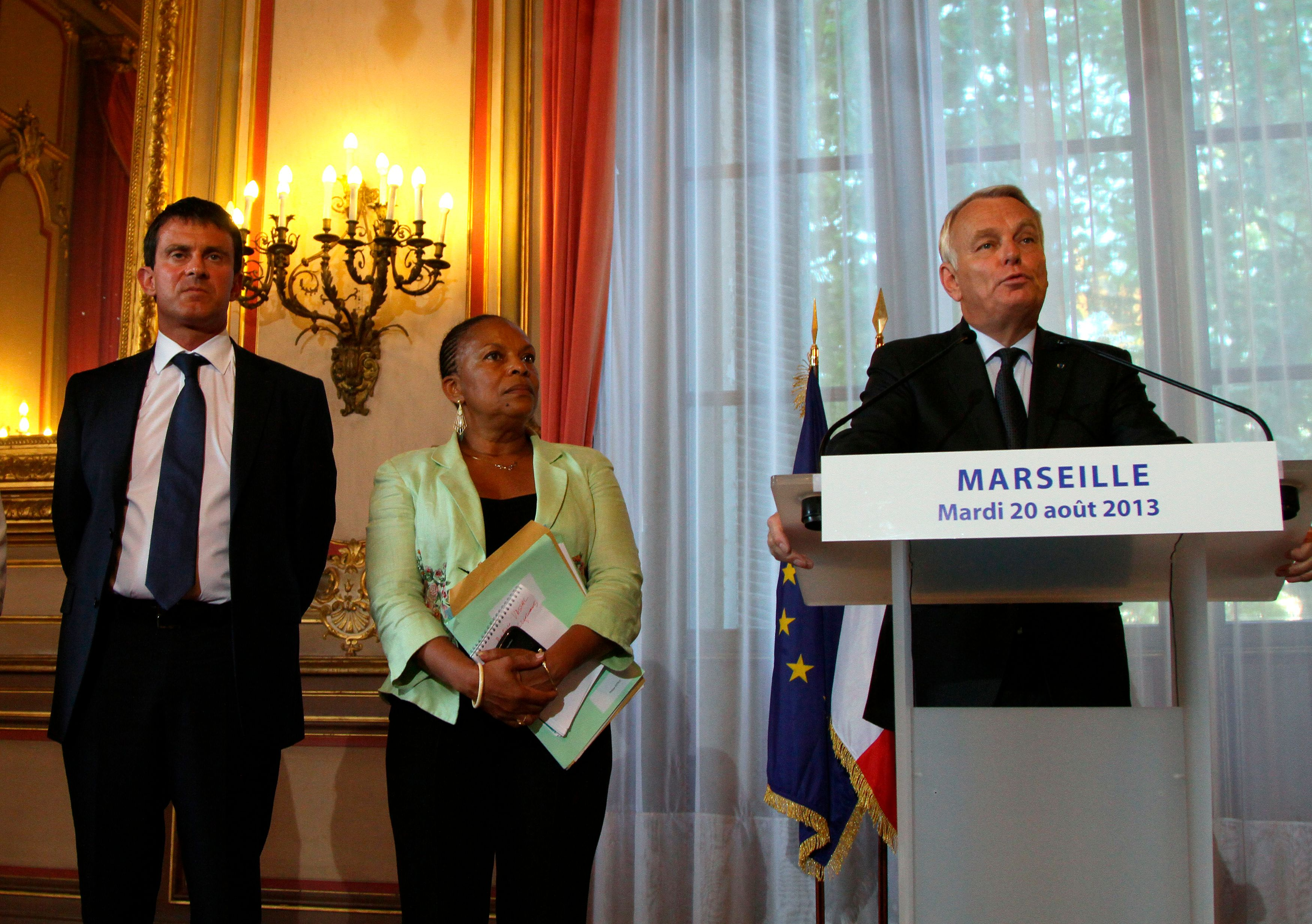 Manuel Valls, Christiane Taubira et Jean-Marc Ayrault
