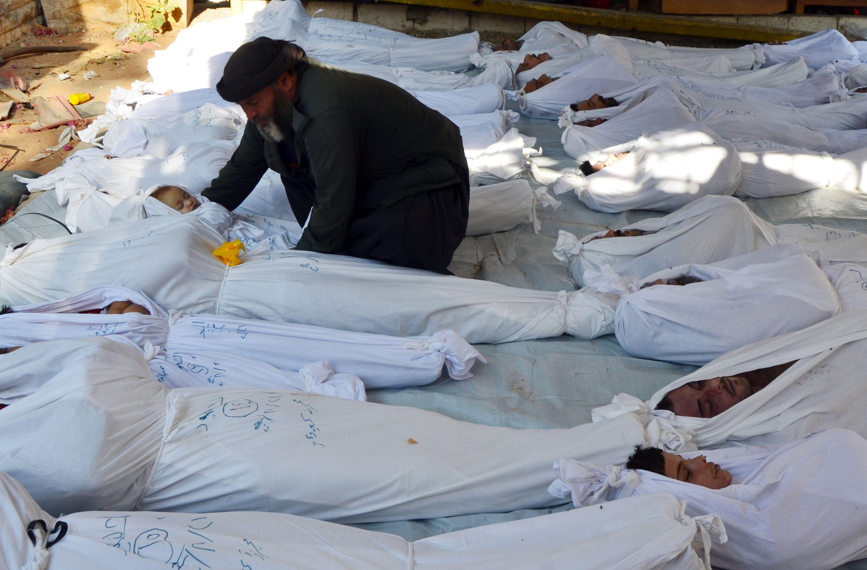 La Syrie pleure ses morts, après de violents bombardements le 21 août