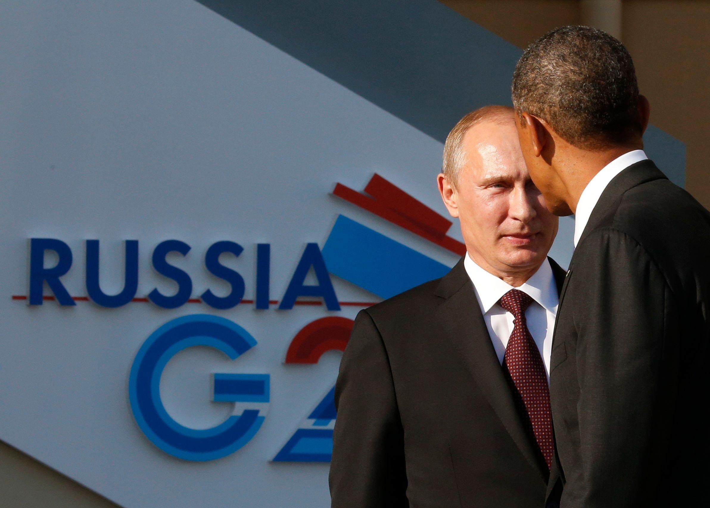 Preuve de la tension qui plane entre Washington et Moscou : la brève poignée de main entre Barack Obama et Vladimir Poutine à l'ouverture. du G20.