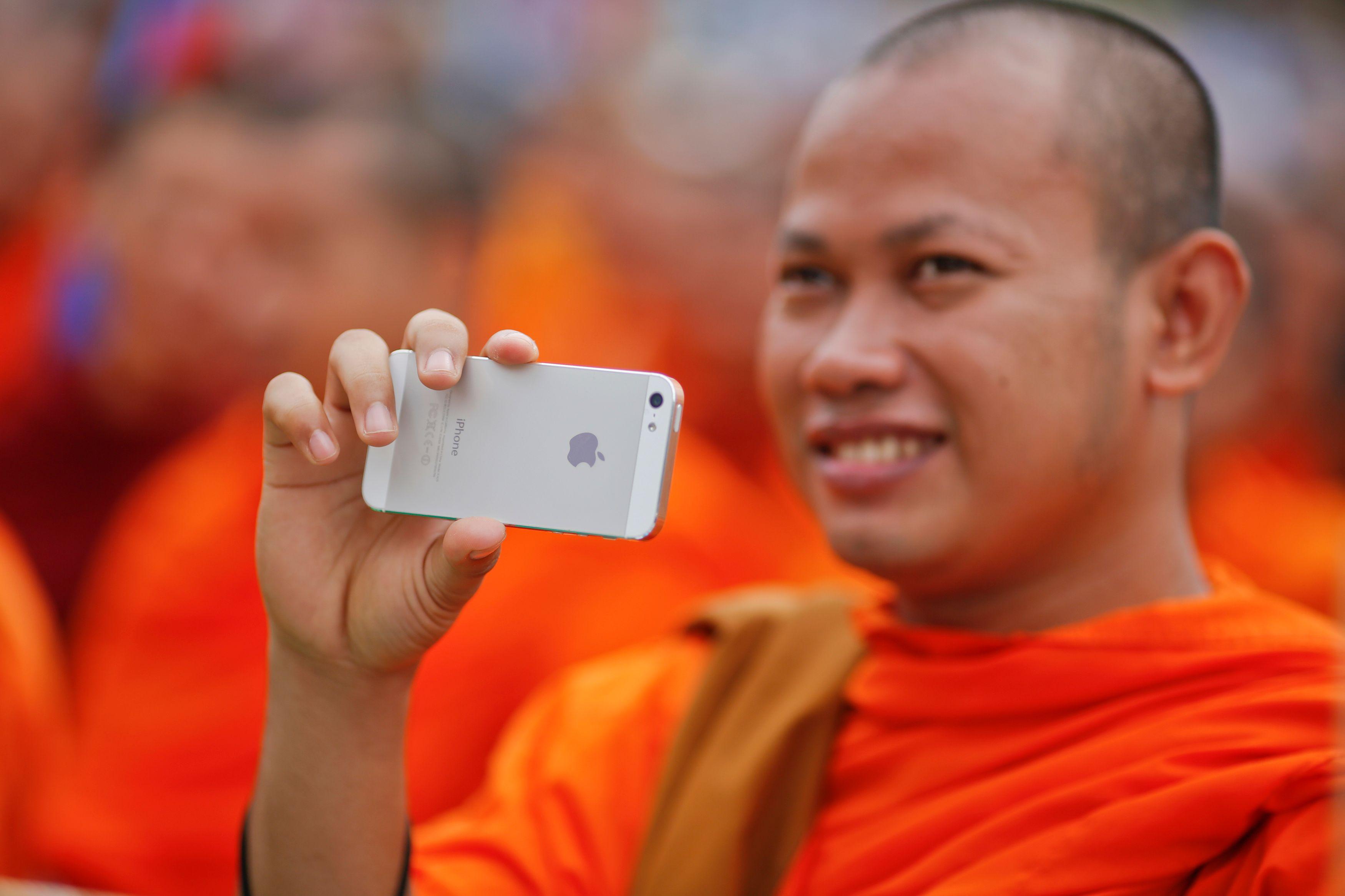 Une moine cambodgien en septembre 2013