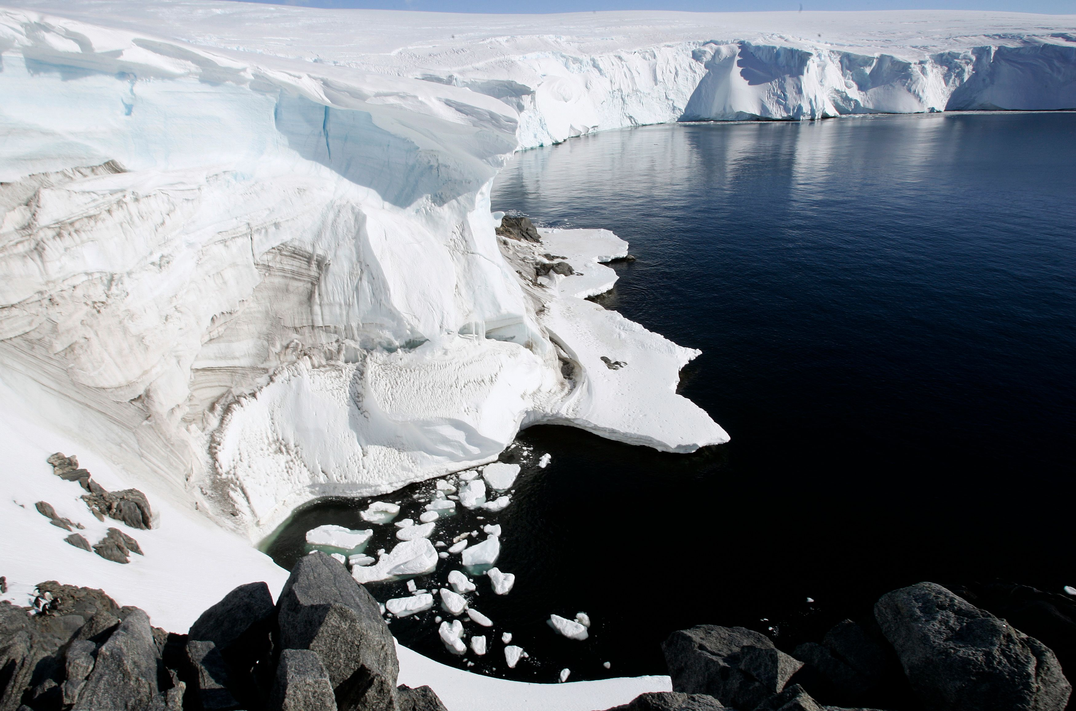 Antarctique - vue aérienne