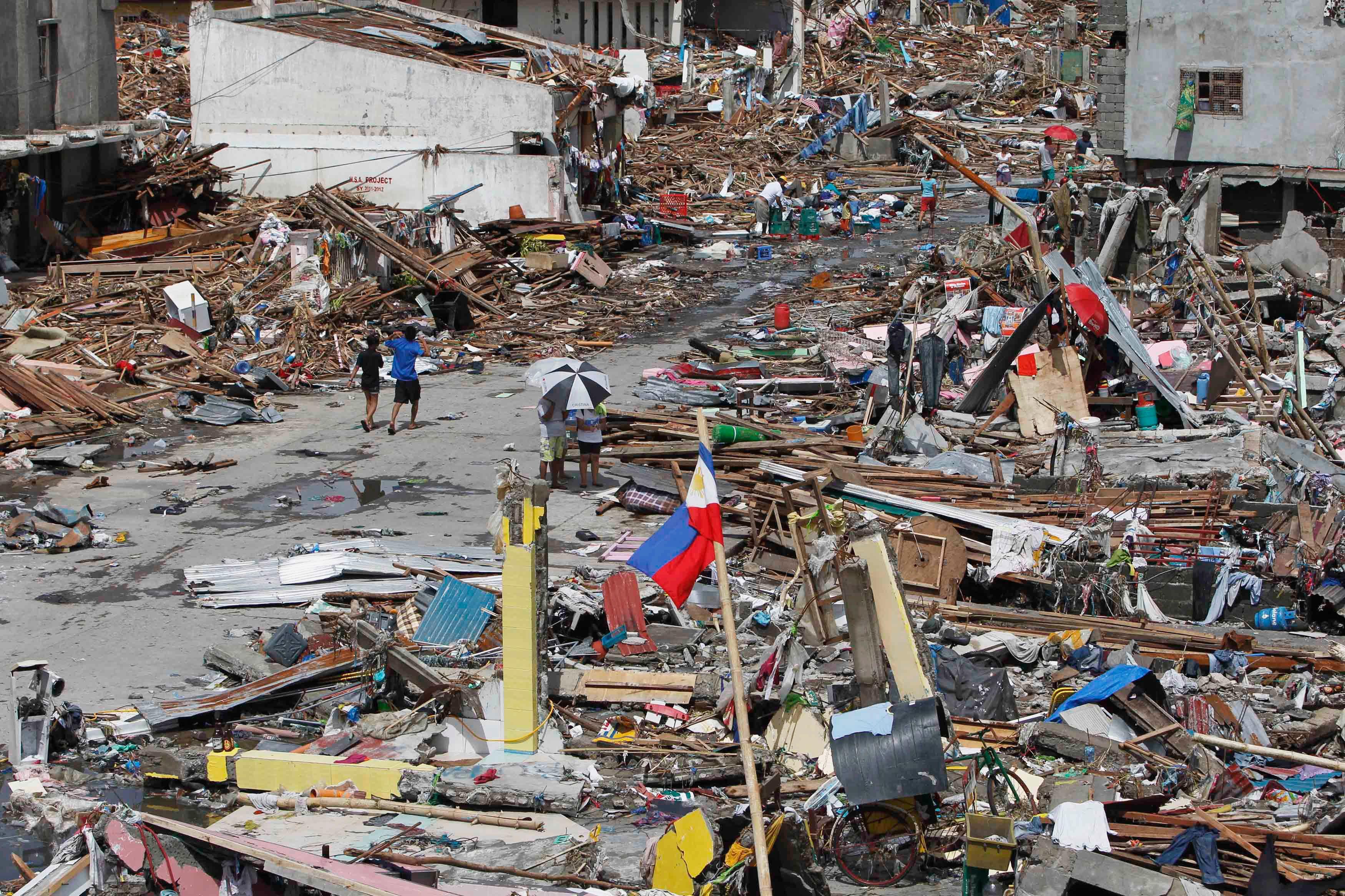 L'année a notamment été marquée par le typhon Haiyan aux Philippines, qui a coûté la vie à 7 000 personnes