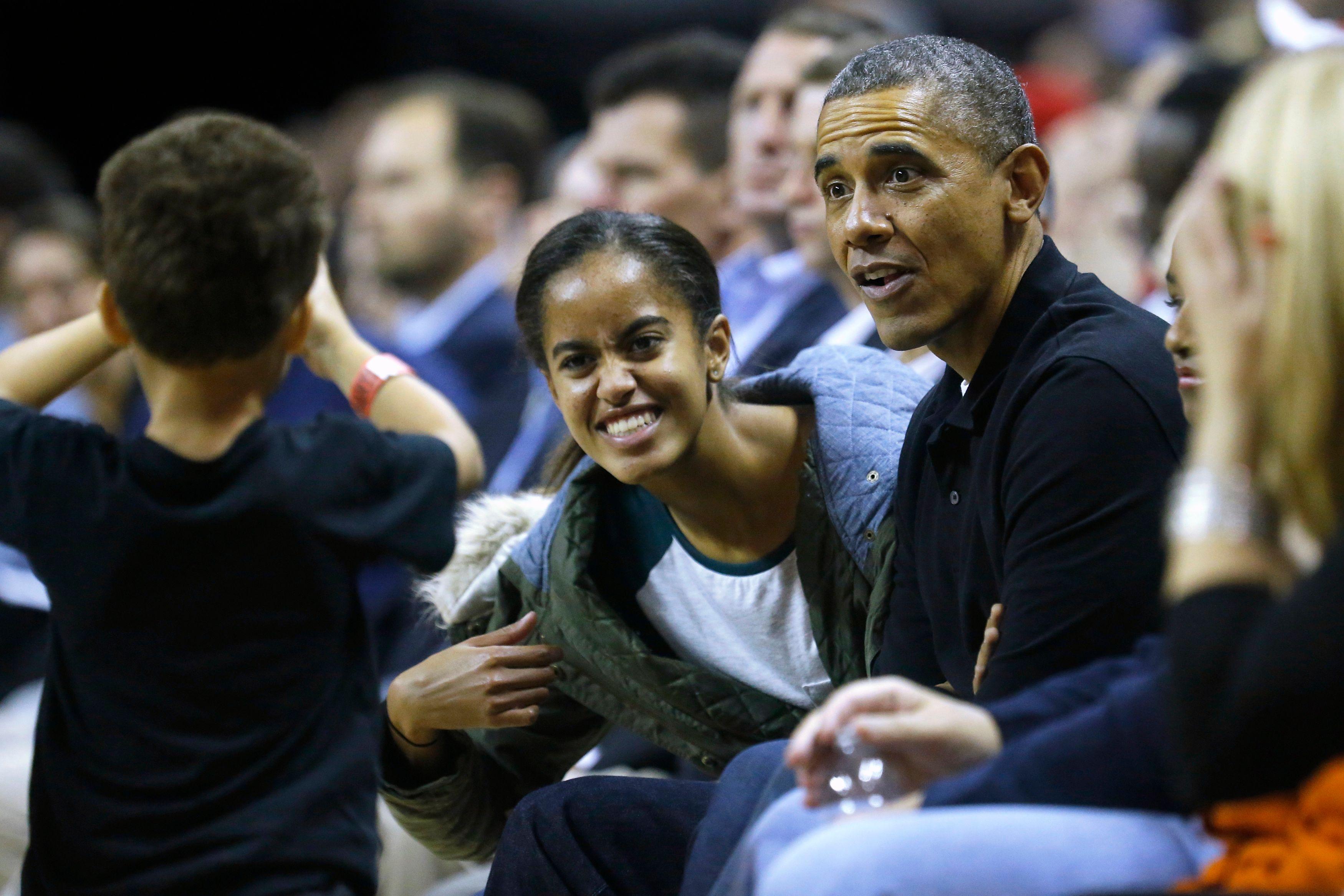 Malia Obama et son père