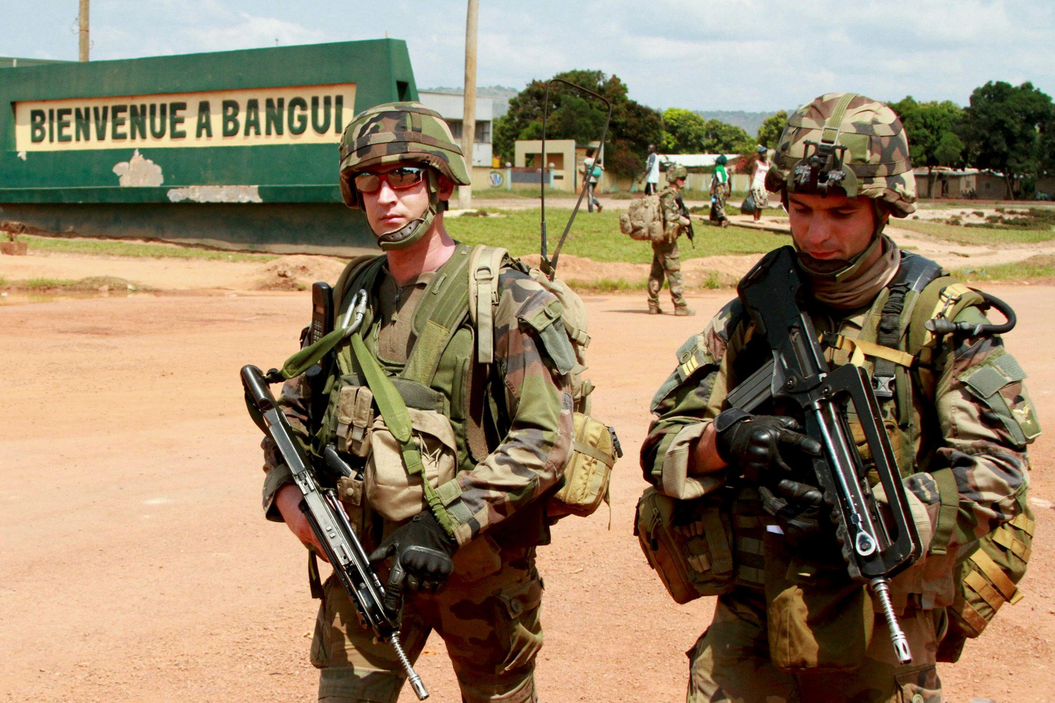 Des soldats français en Centrafrique.