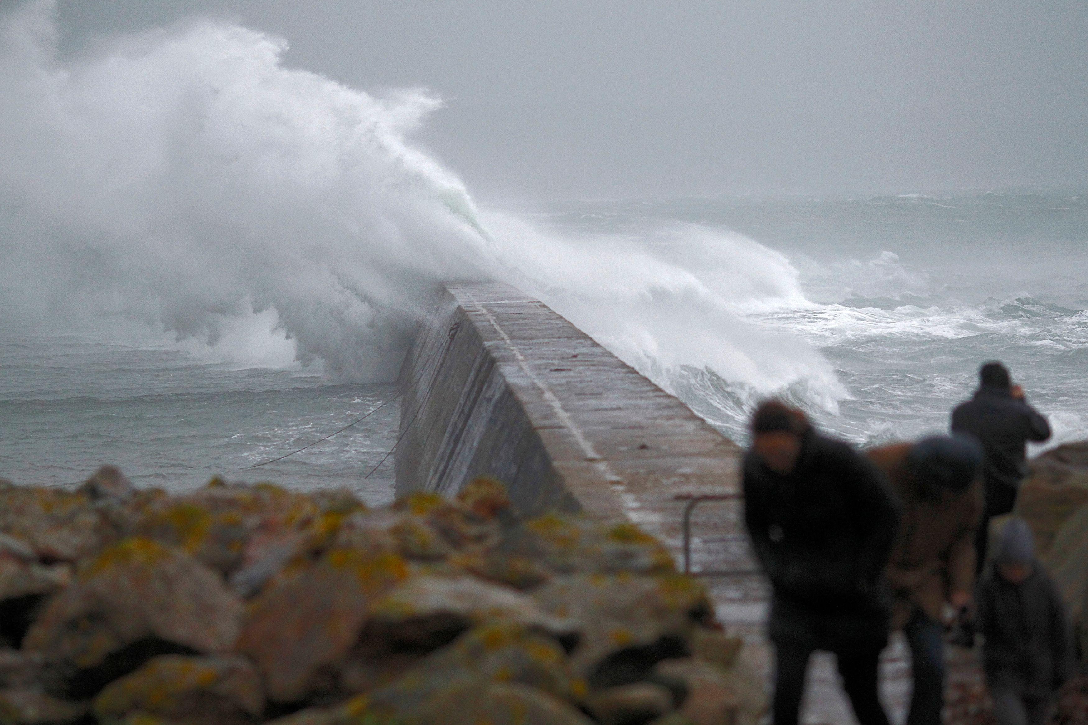 La tempête Dirk est passée au dessus de la Bretagne en décembre 2013