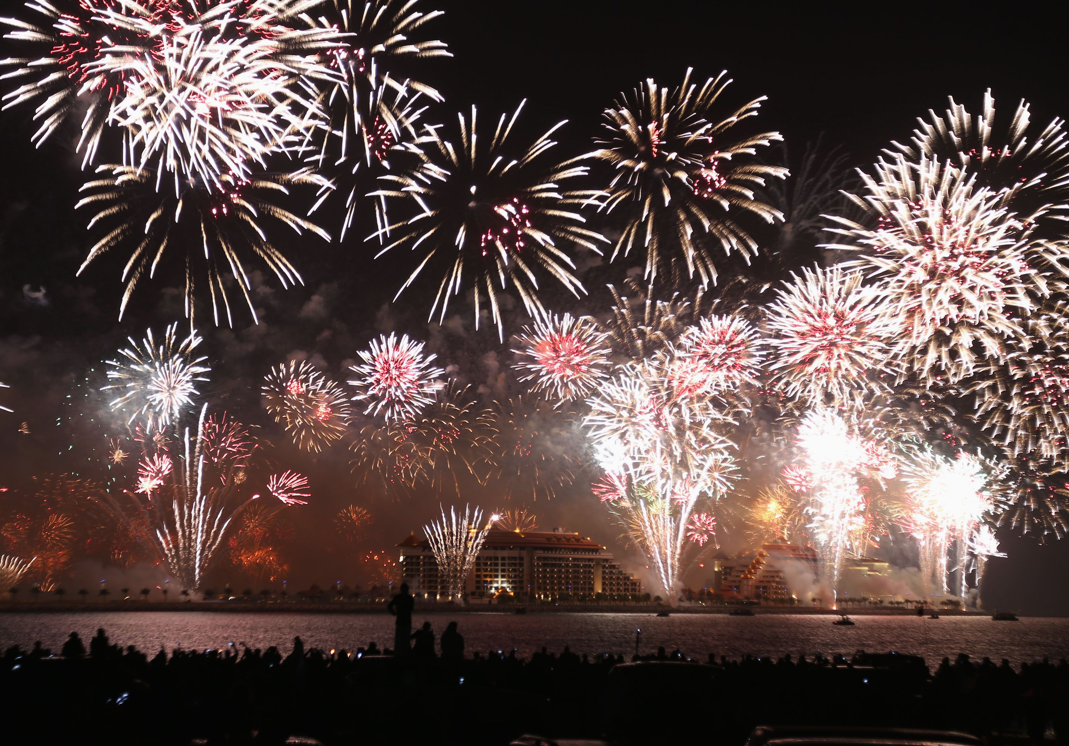Le feu d'artifice du Nouvel An à Dubaï