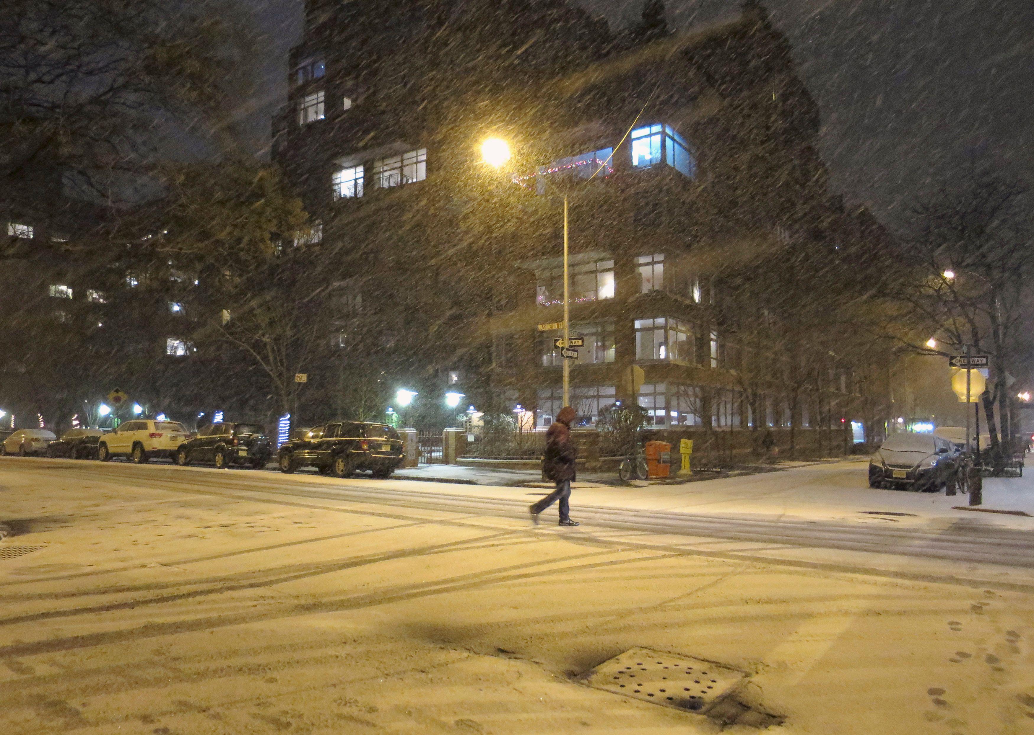 La neige s'est abattue sur New York