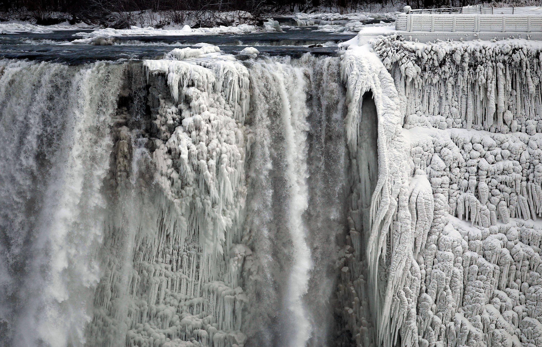 Les (vraies) images des chutes du Niagara gelées
