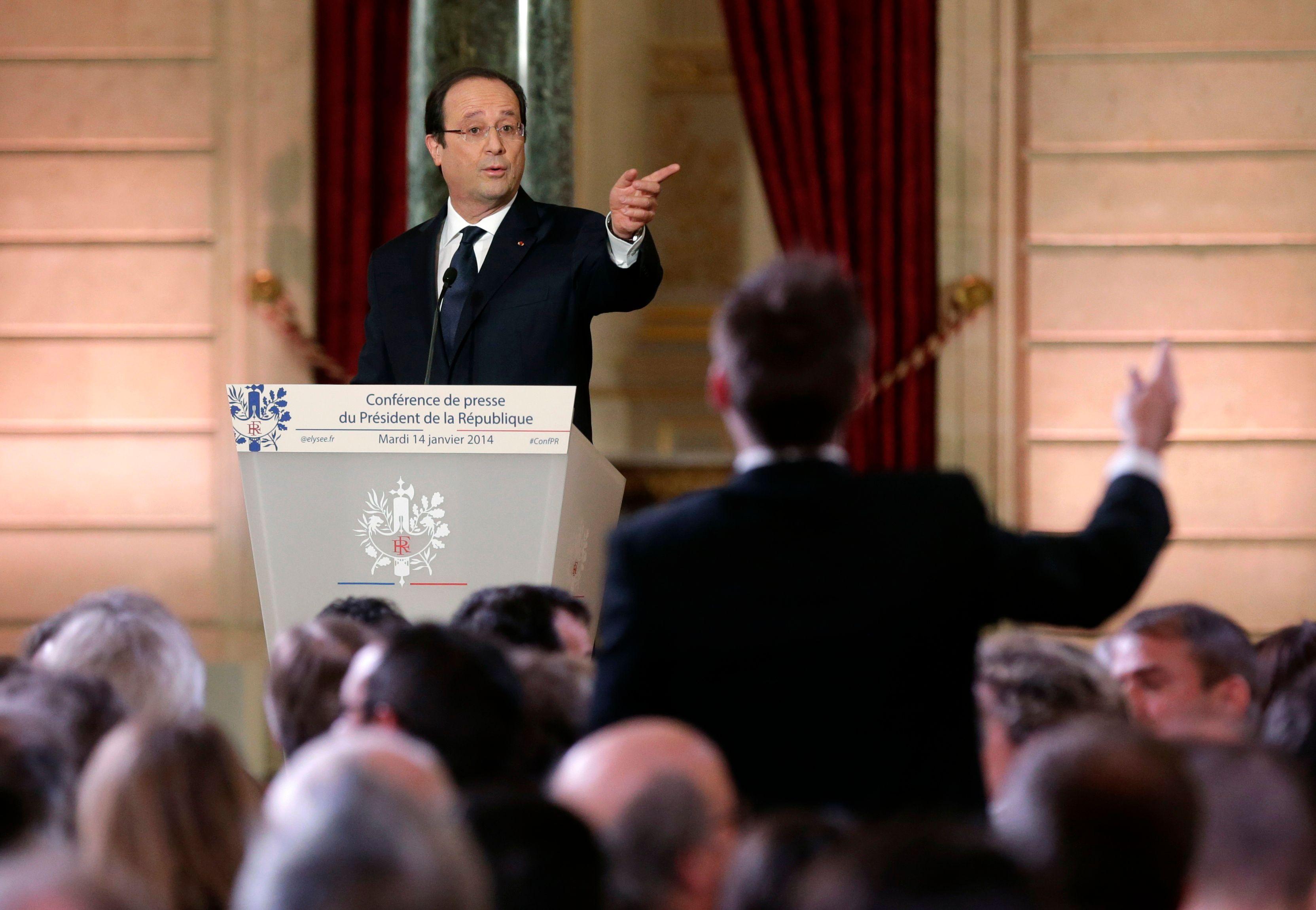 François Hollande lors de sa troisième conférence présidentielle.
