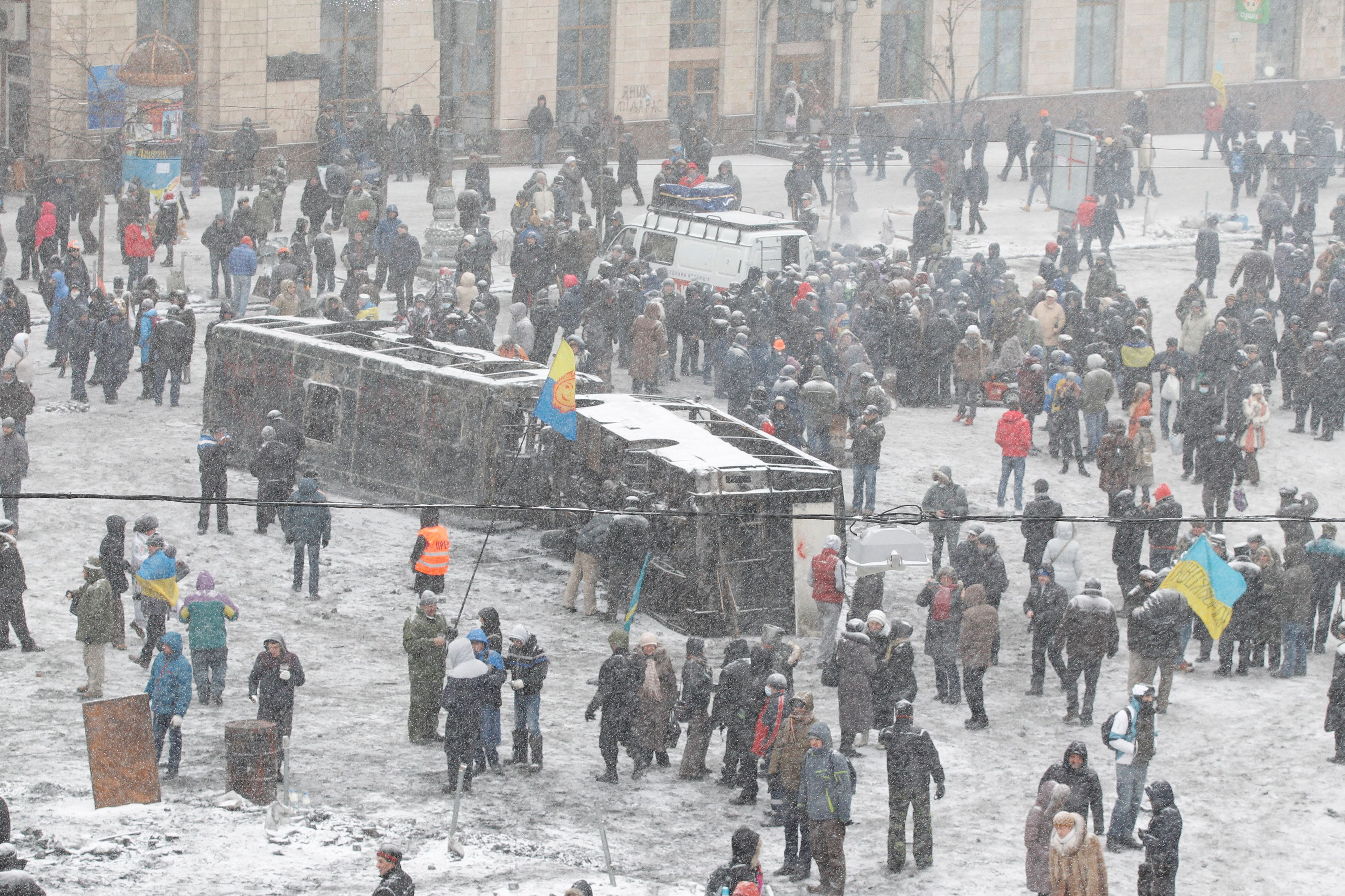Une personne est morte dans les manifestations à Kiev