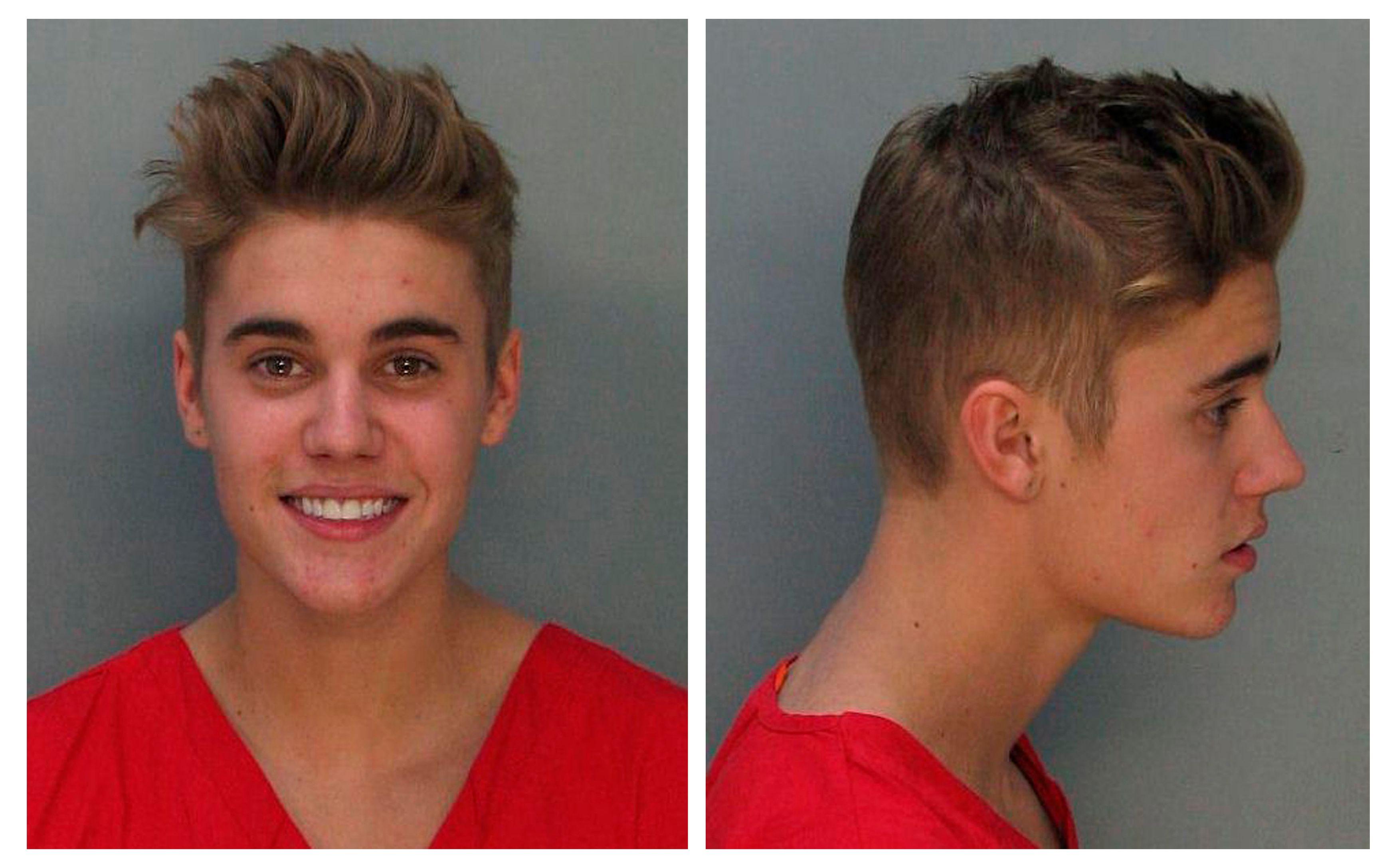 Justin Bieber lors de son arrestation