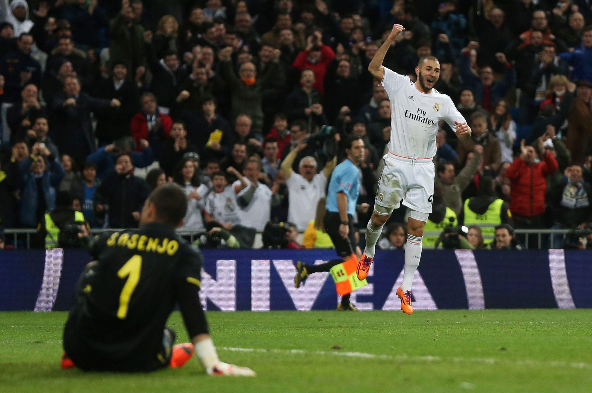 Karim Benzema a marqué un doublé hier soir