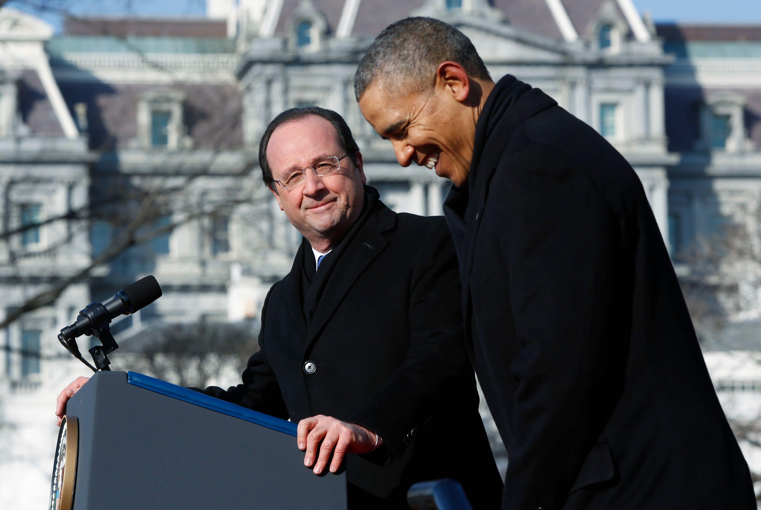 """Hollande-Obama : """"Faisons plus de choses ensemble"""", ditleprésident américain"""