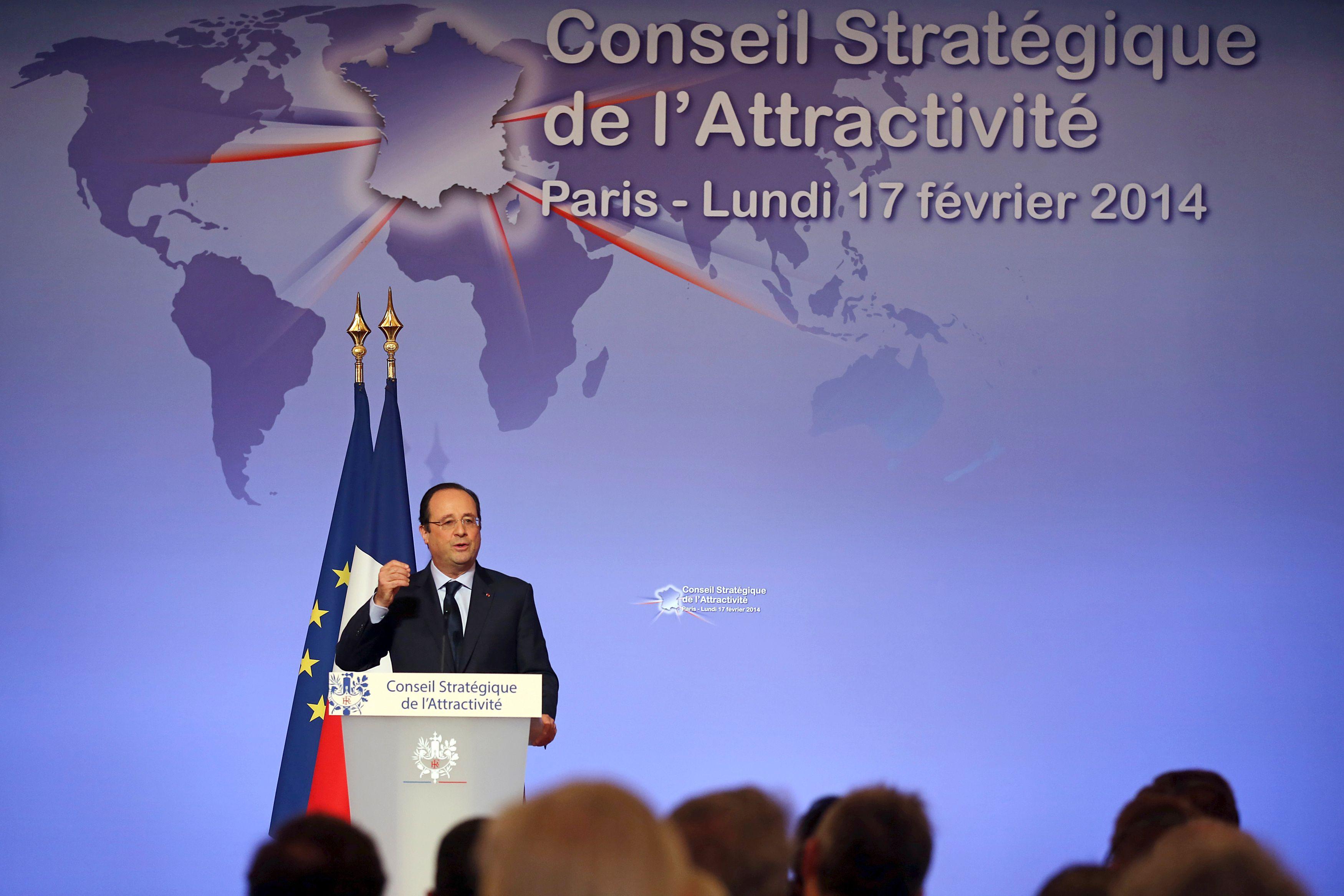 François Hollande recevait ce lundi les investisseurs étrangers.