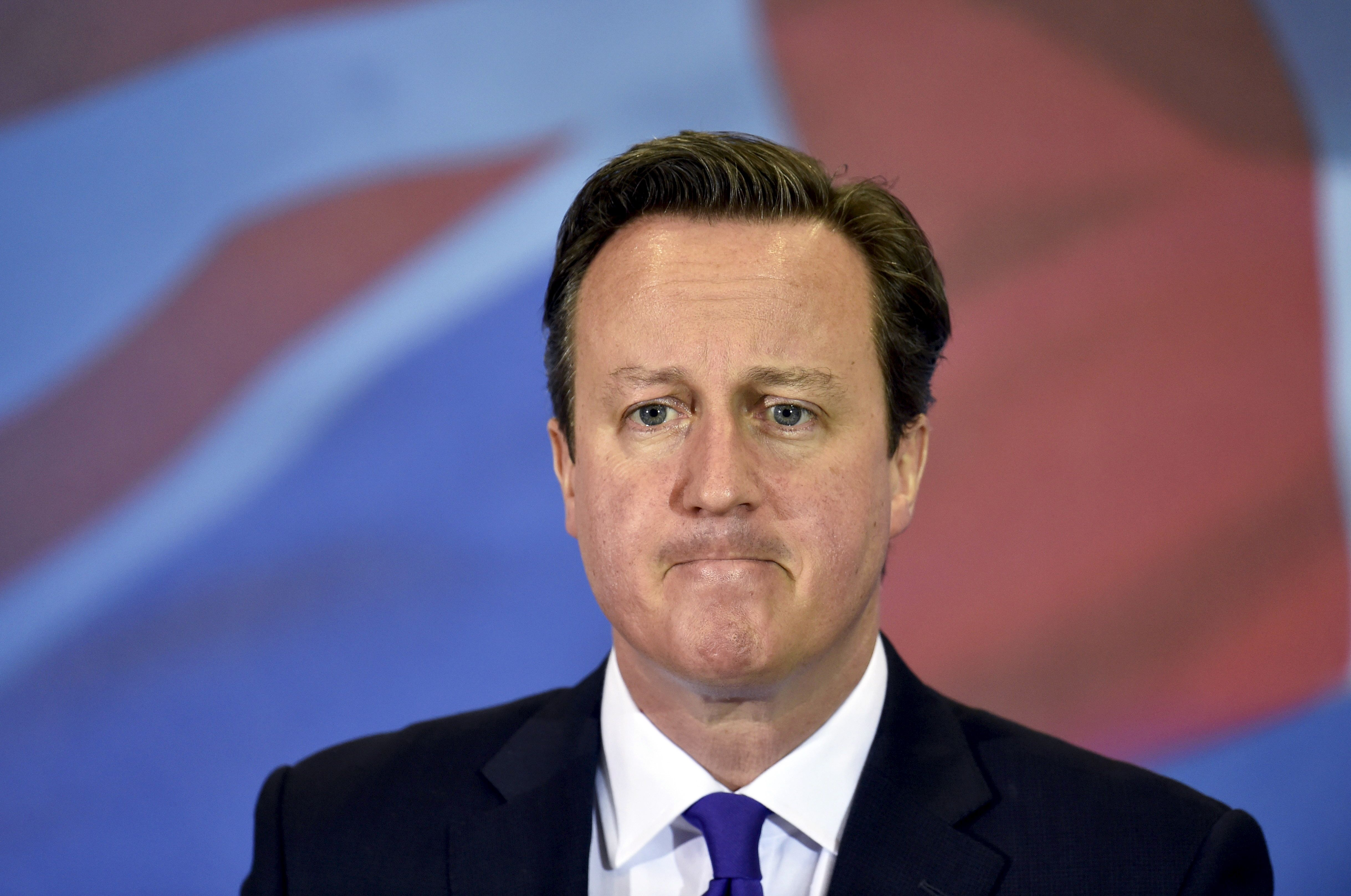Le premier ministre David Cameron