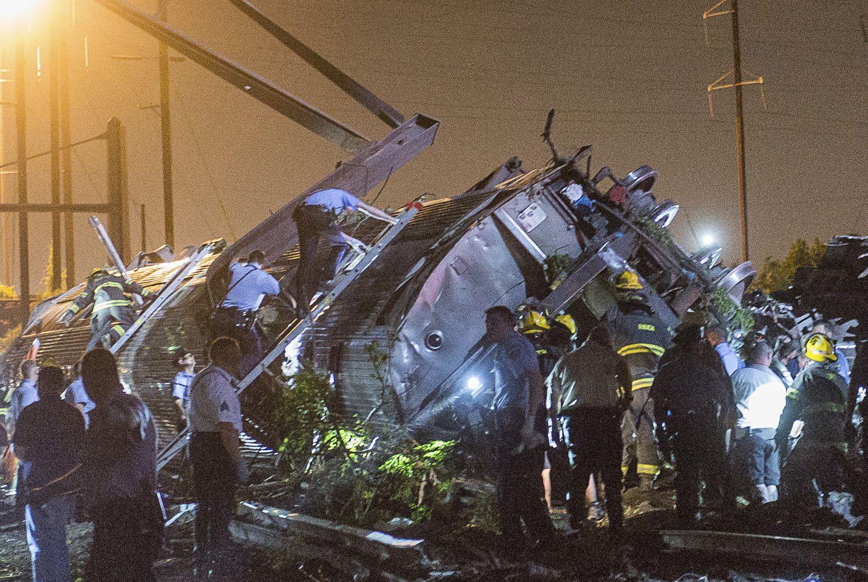 Le train qui a déraillé à Philadelphie