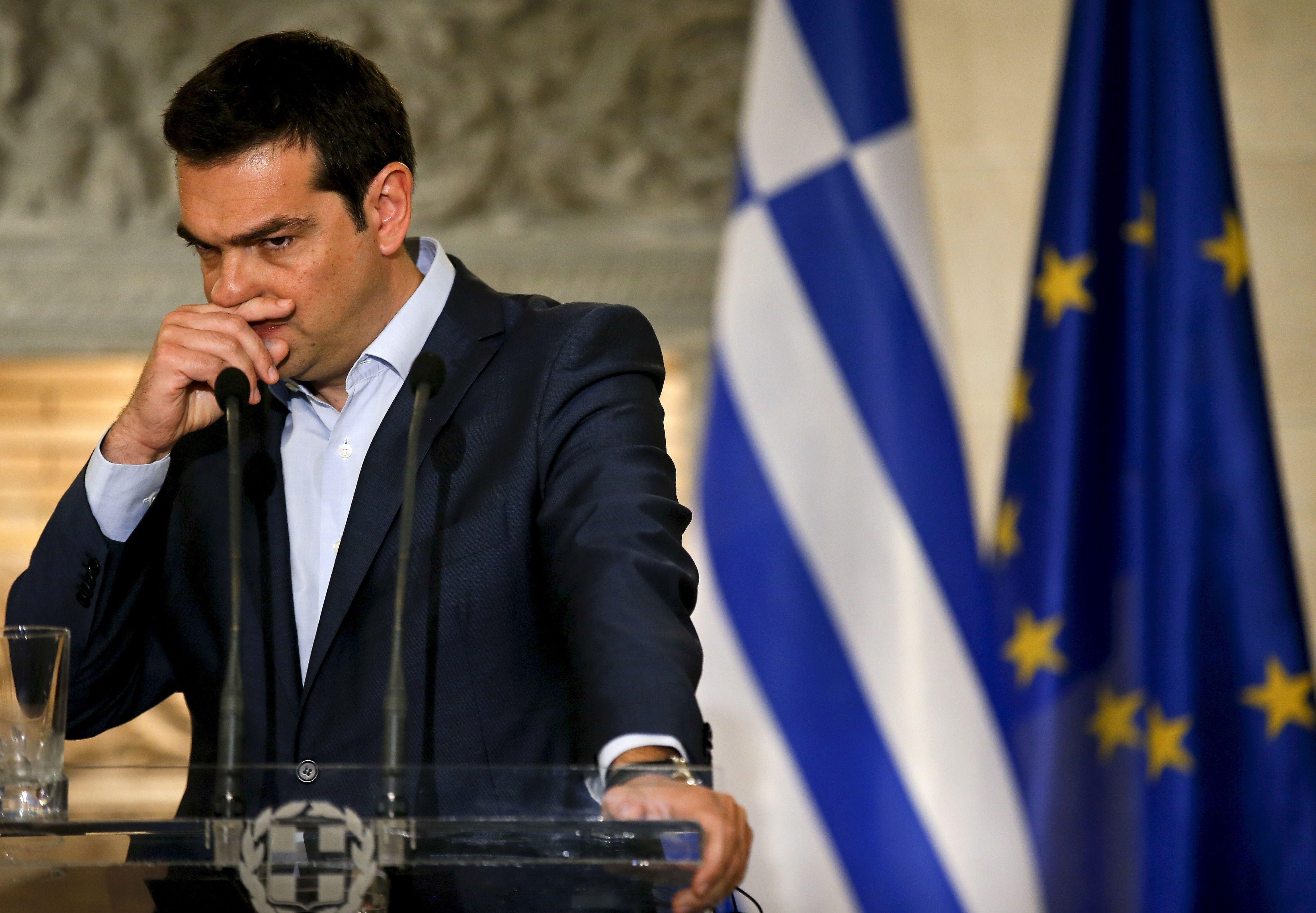 Le Premier ministre grec démissionnaire, Alexis Tsipras.