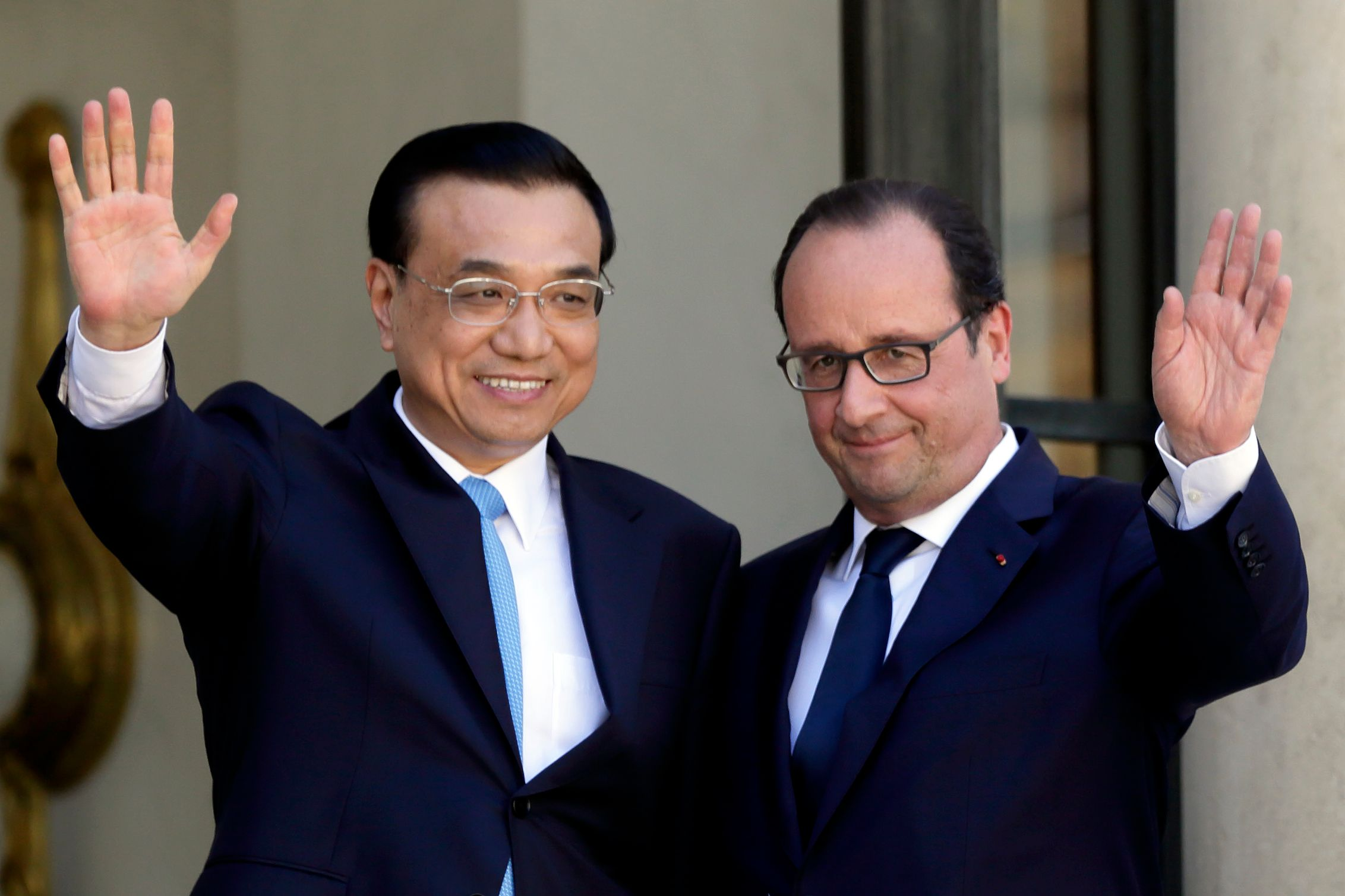 François Hollande et le Premier ministre chinois Li Keqiang, le 30 juin 2015 à Paris.