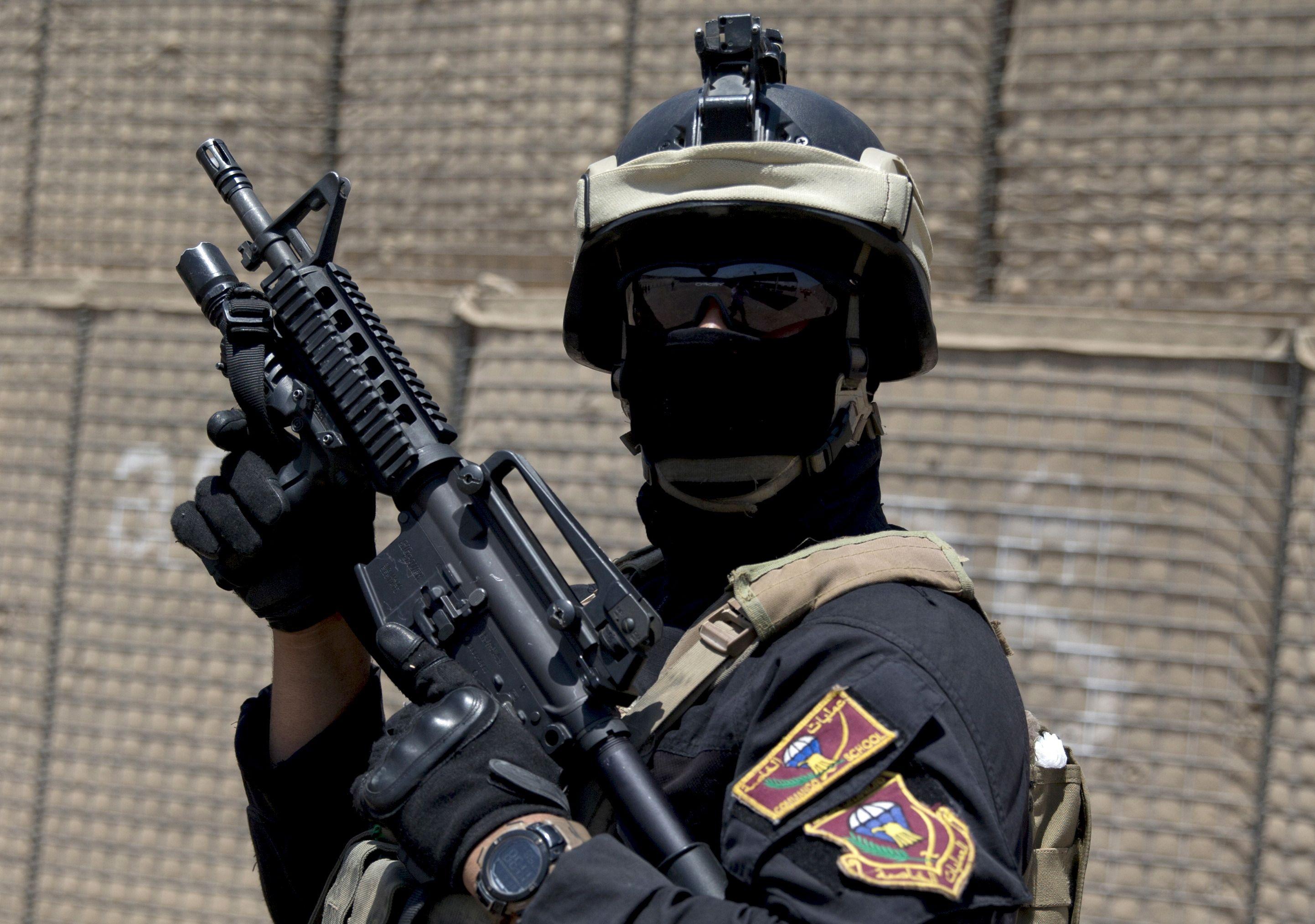 Un soldat de l'armée irakienne.
