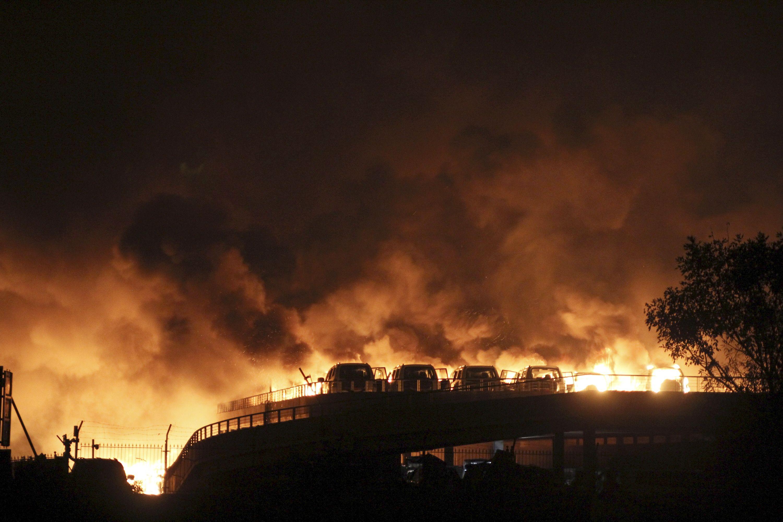 Après l'explosion de Tinajin, une nouvelle déflagration a eu lieu lundi soir à Dongying.