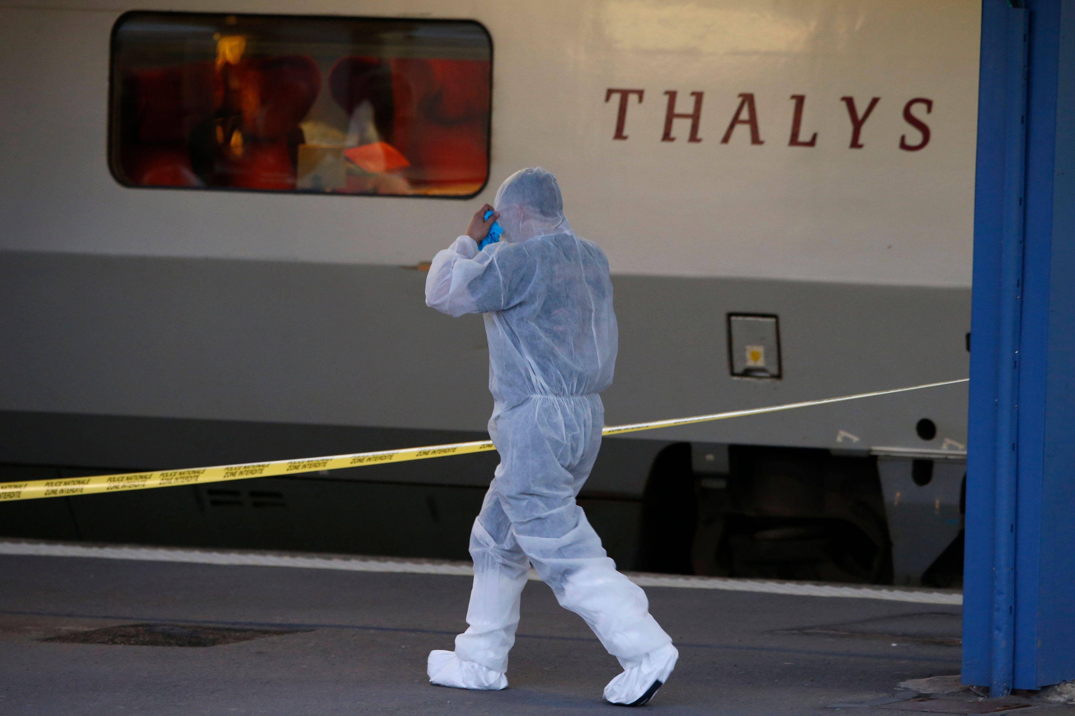 Photo prise lors de l'attentat déjoué du Thalys.