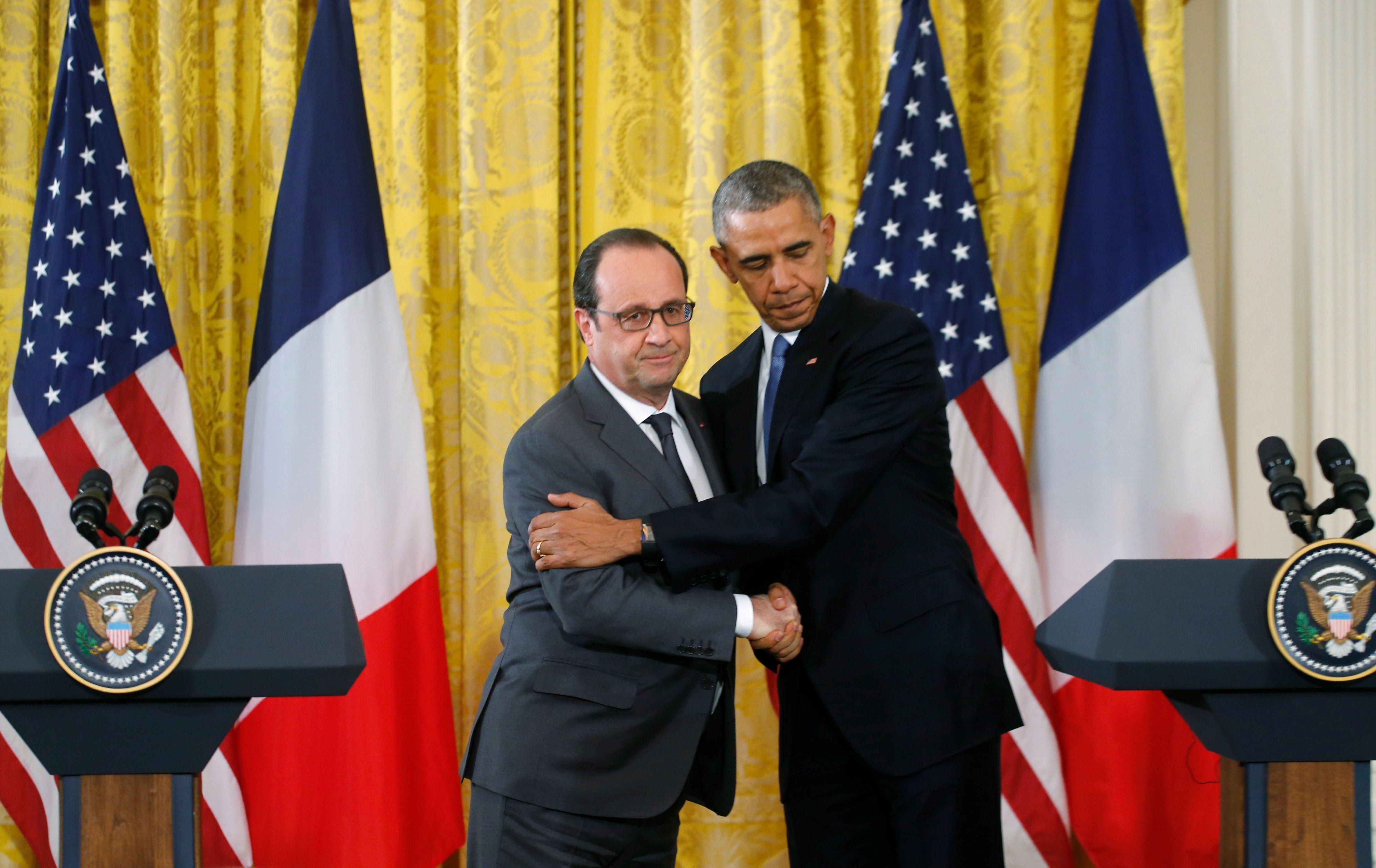 François Hollande et Barack Obama annoncent une intensification des frappes en Syrie et en Irak