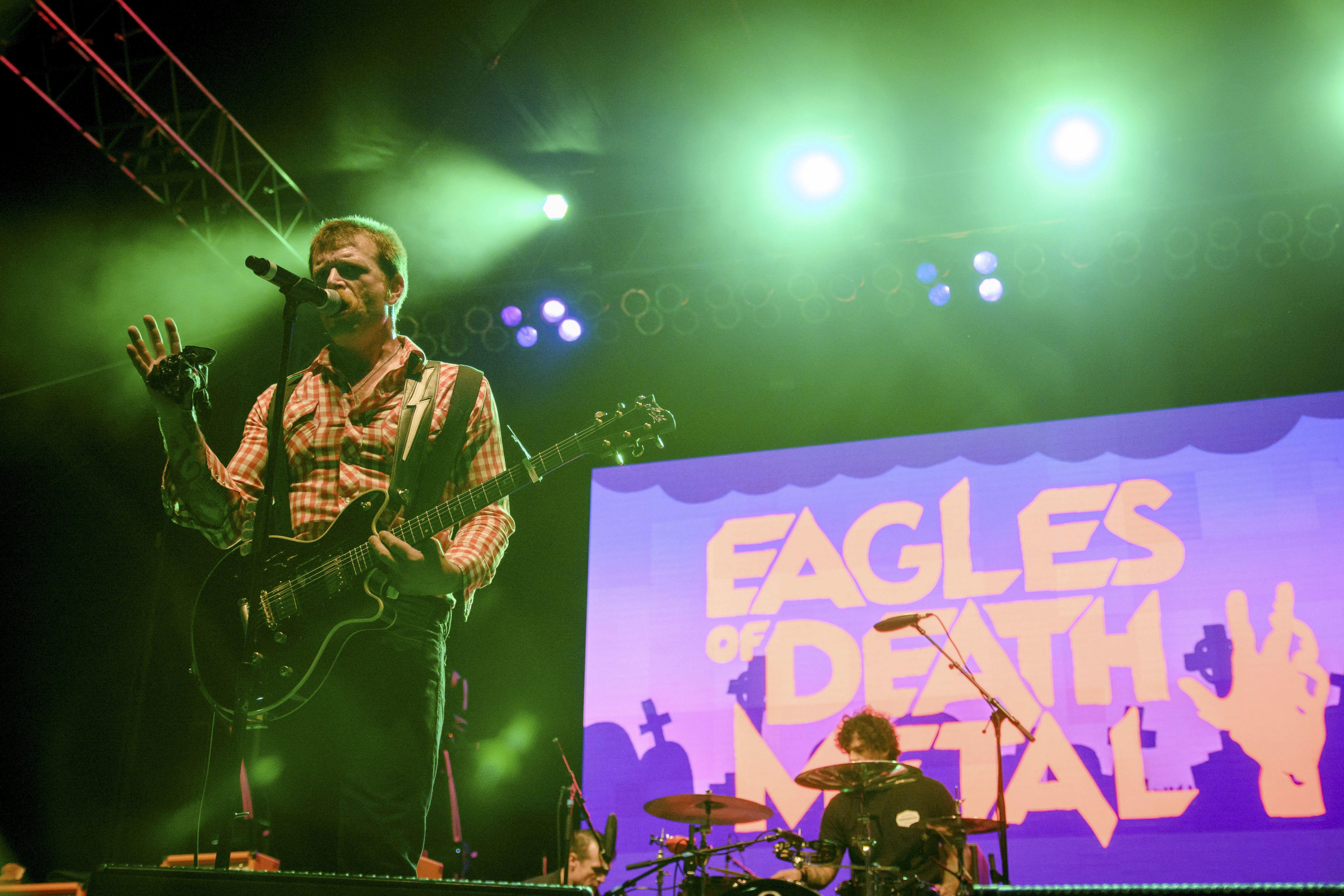 Les Eagles of Death Metal en concert.