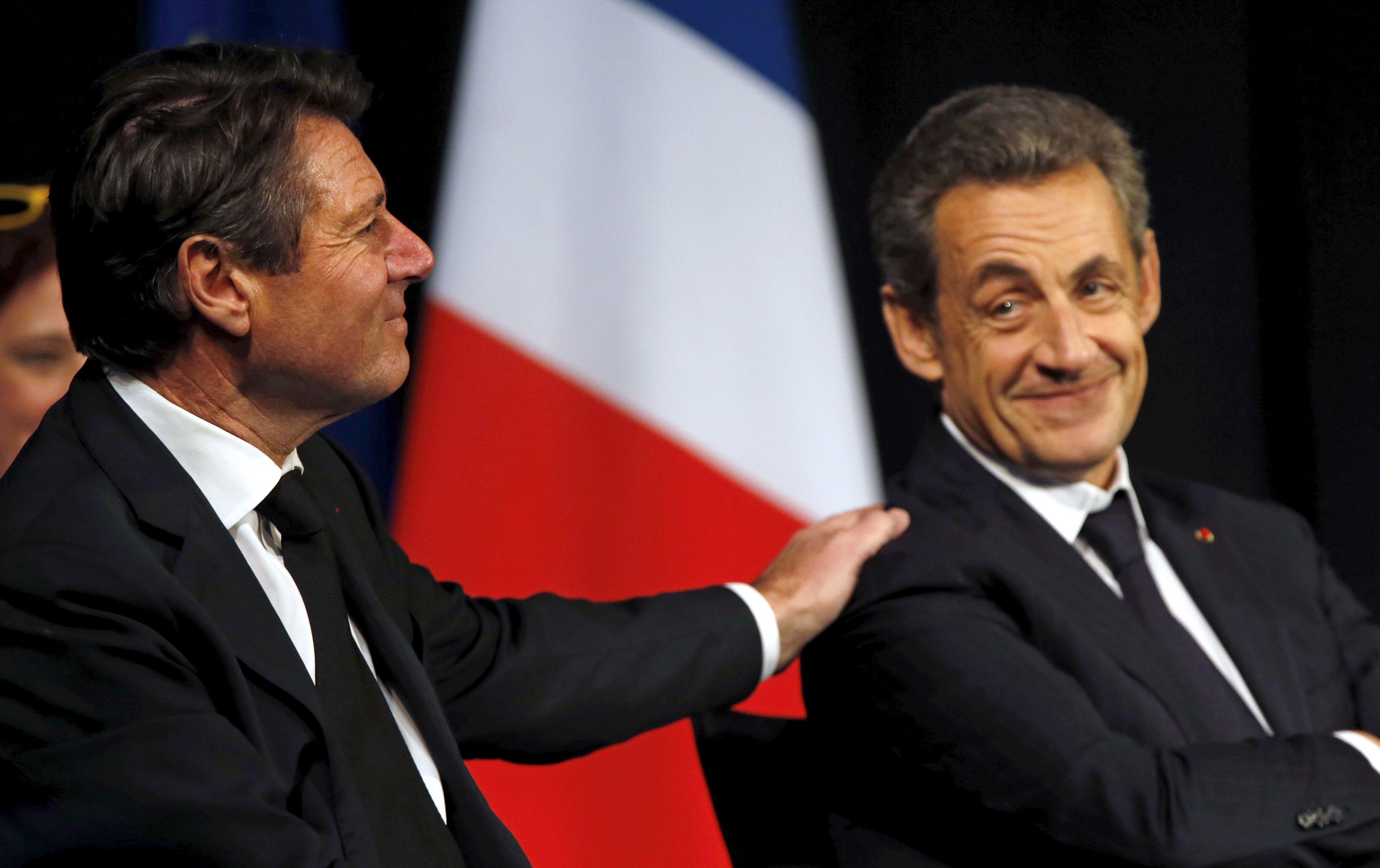 Christian Estrosi et Nicolas Sarkozy à Avignon