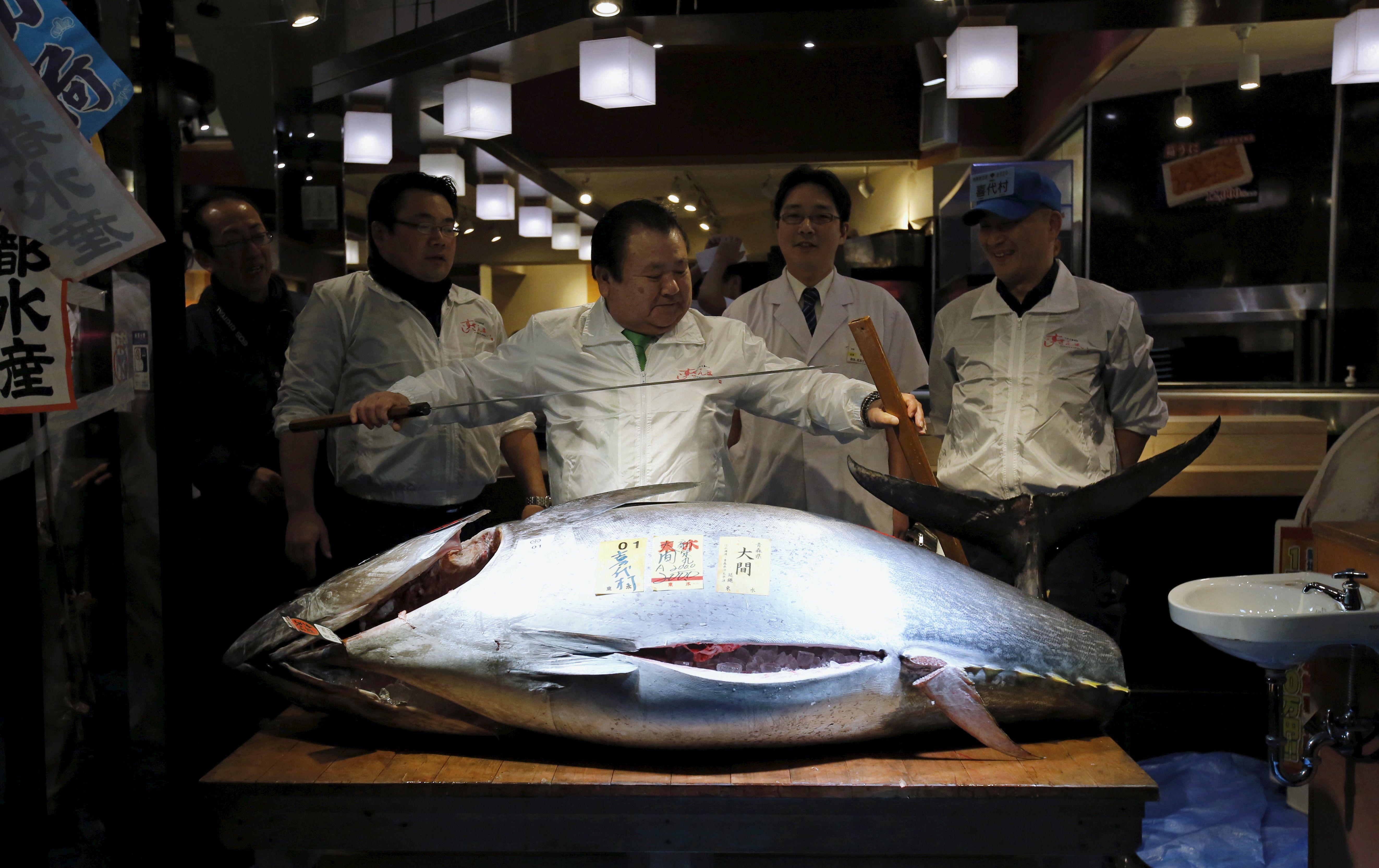 Japon: un thon rouge vendu pour... 108 000 euros