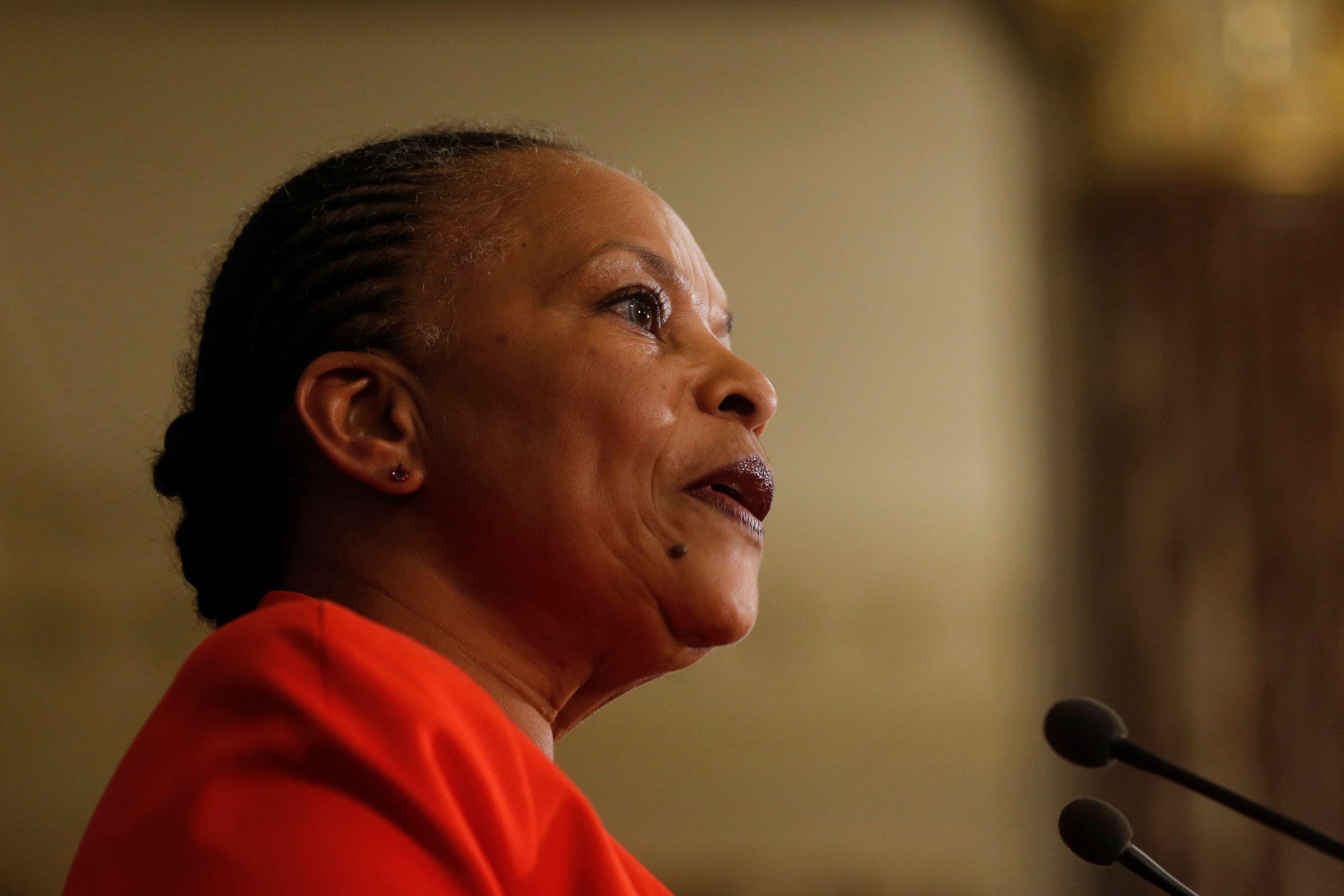 """Christiane Taubira dit ne pas croire à la """"défaite inéluctable"""" de la gauche"""