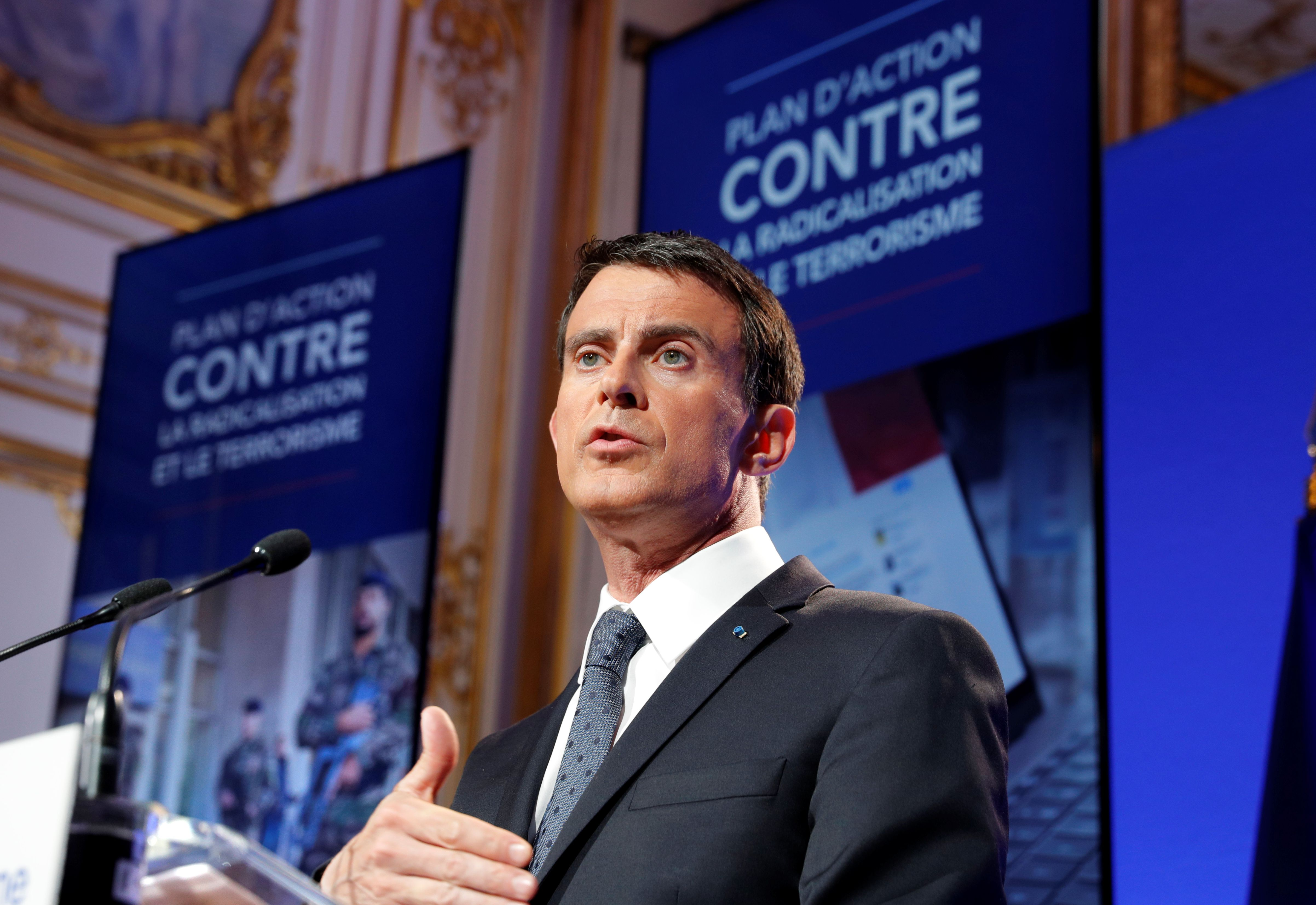 Manuel Valls estime qu'il y a 15000 personnes radicalisées en France aujourd'hui
