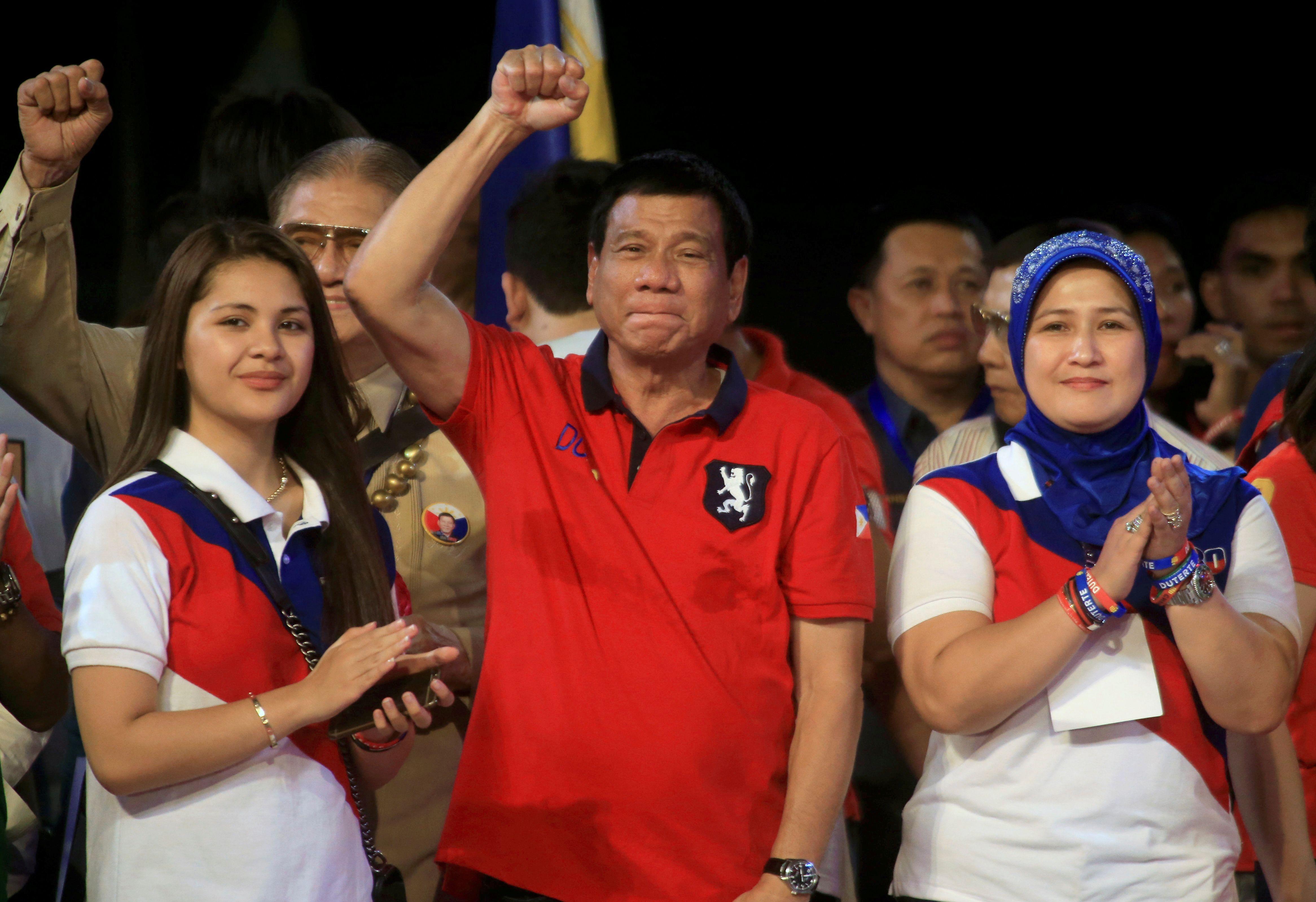 """Rodrigo Duterte, le président des Philippines, a promis de """"nettoyer"""" le pays des trafiquants de drogue."""