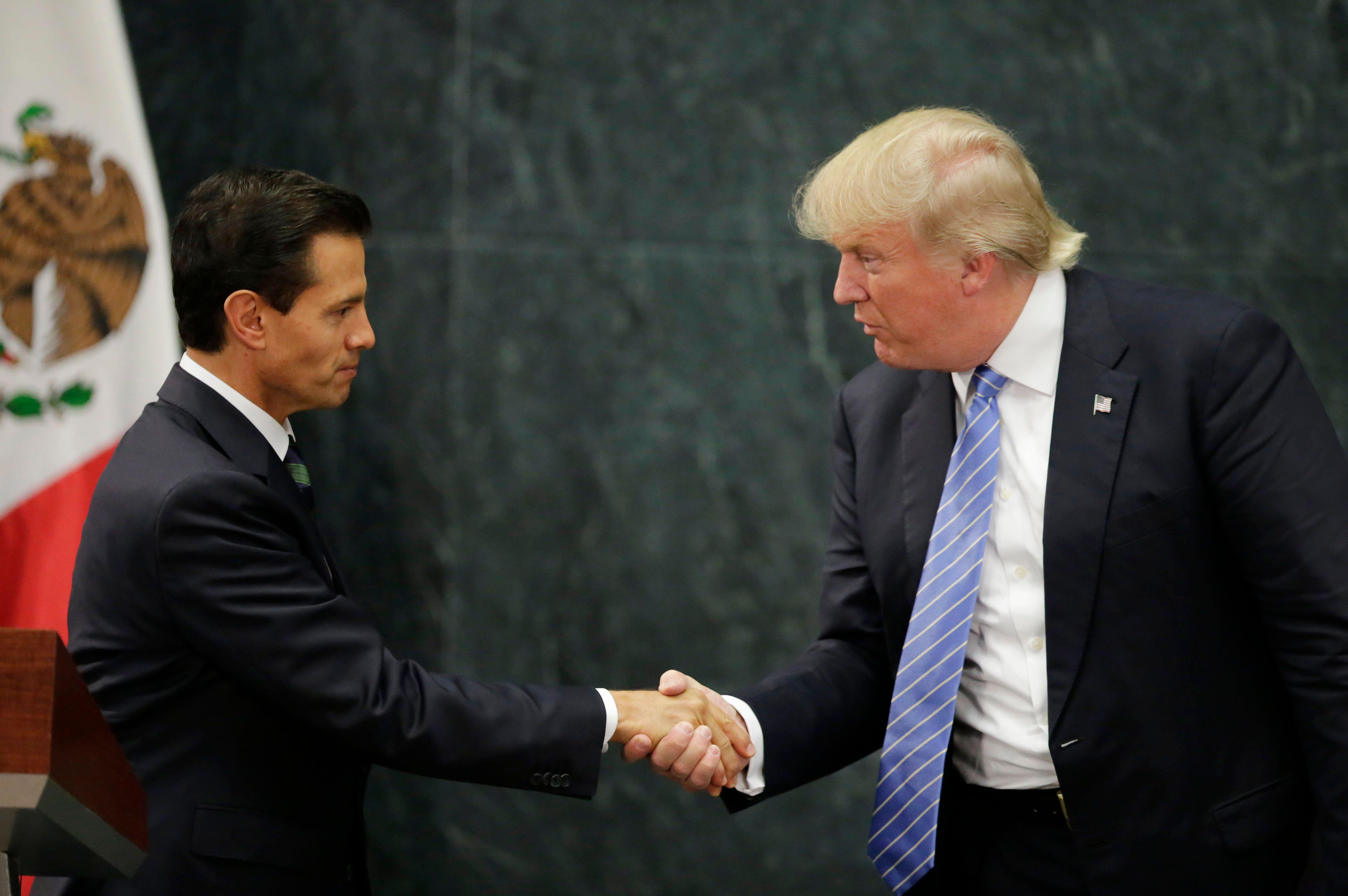 Donald Trump et le président mexicain Pena Nieto
