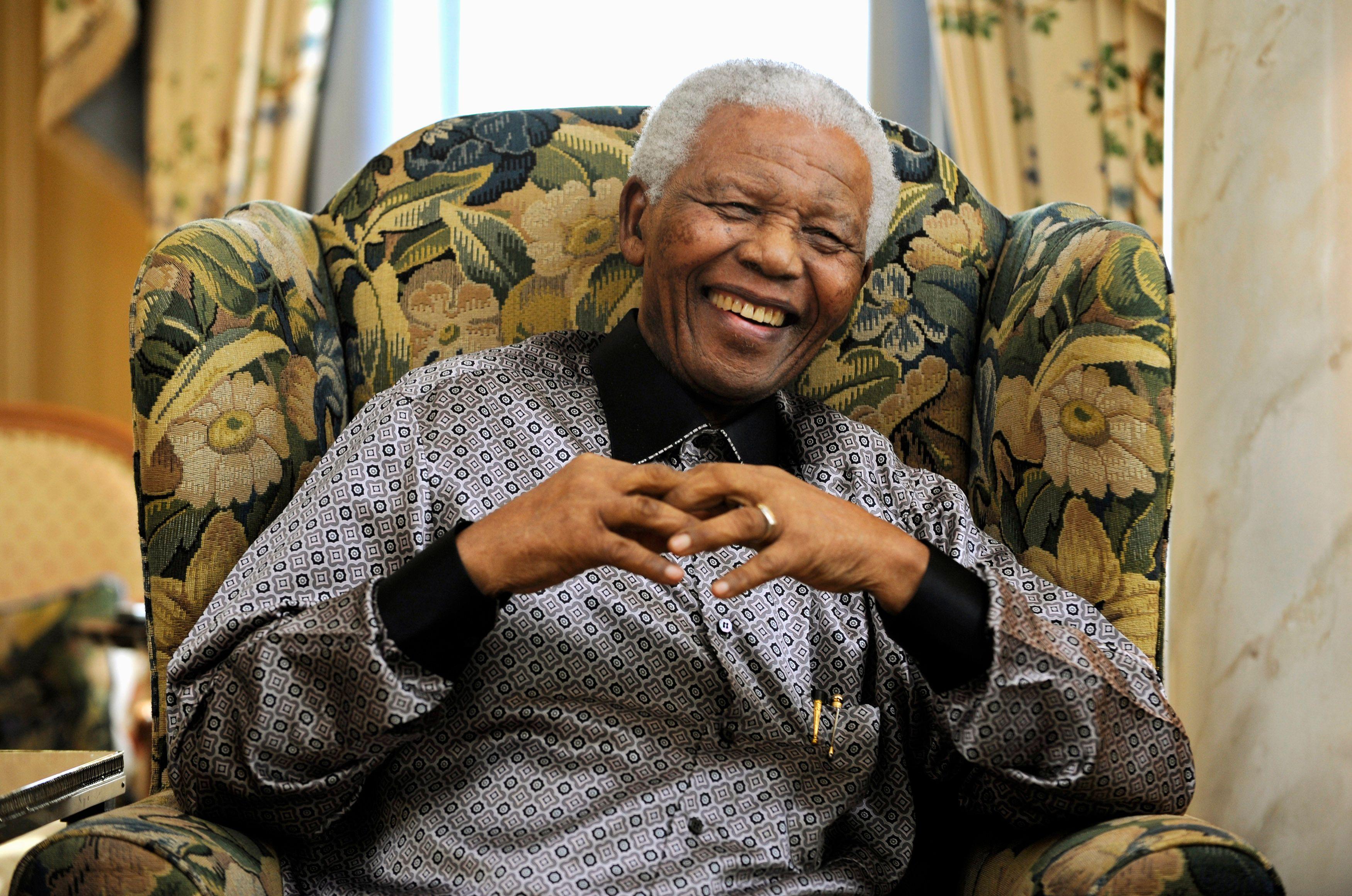 Nelson Mandela a mené toute sa vie un combat contre l'apartheid.