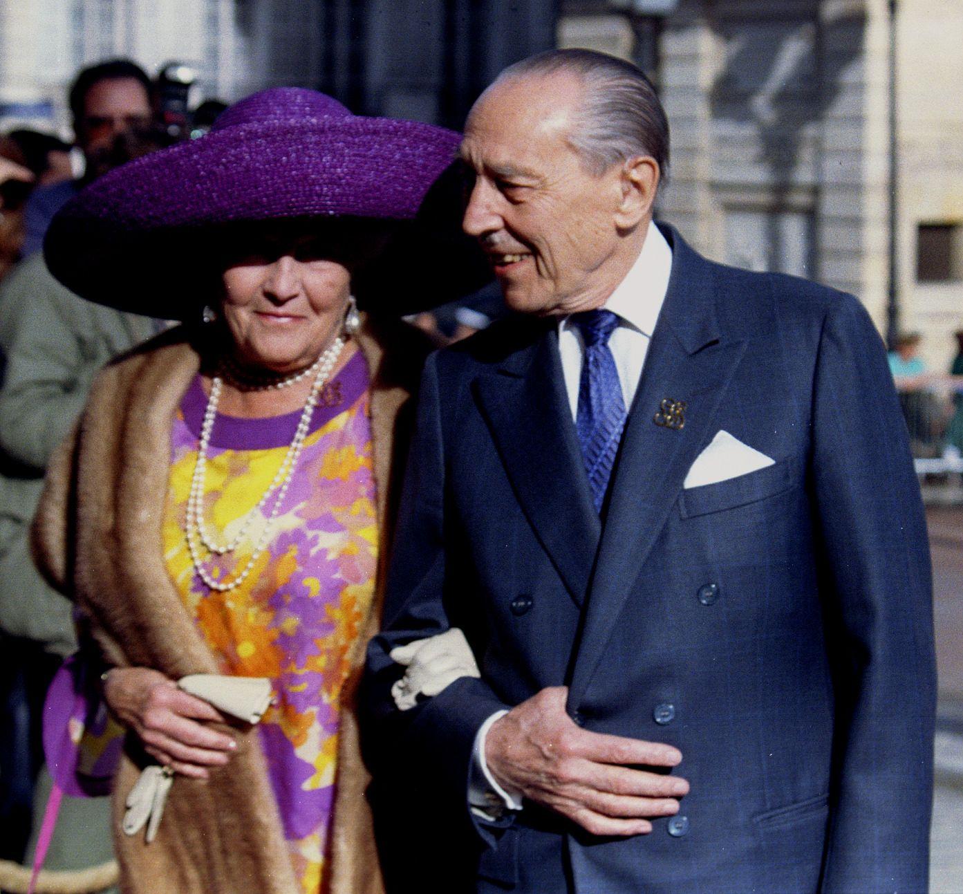 Le comte de Paris, Philippe d'Orléans, en compagnie de son épouse, il y a presque 20 ans