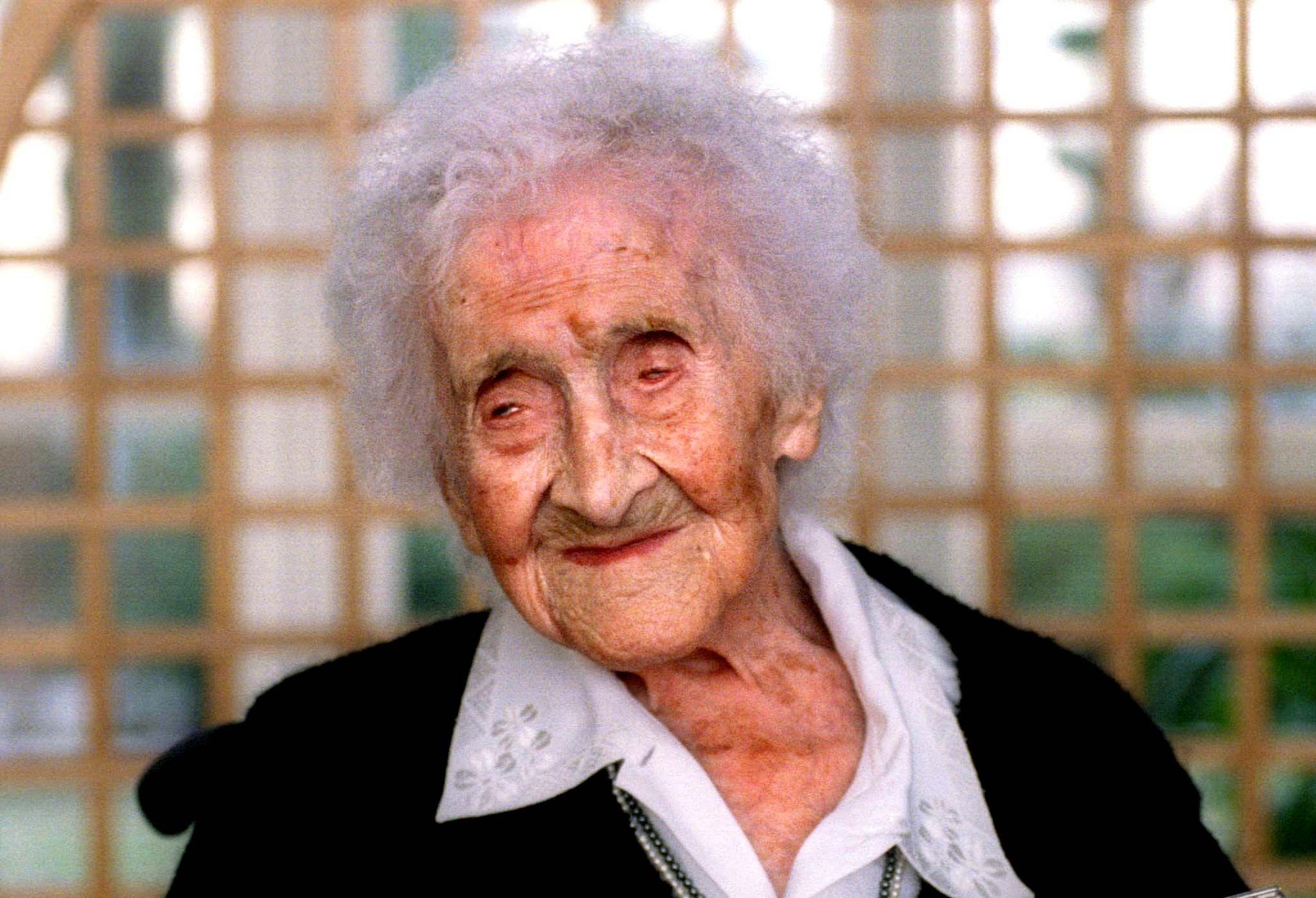 Le record de la plus vieille personne identifiée est toujours détenu par la Française Jeanne Calment, décédée à l'âge de 122 ans en 1997