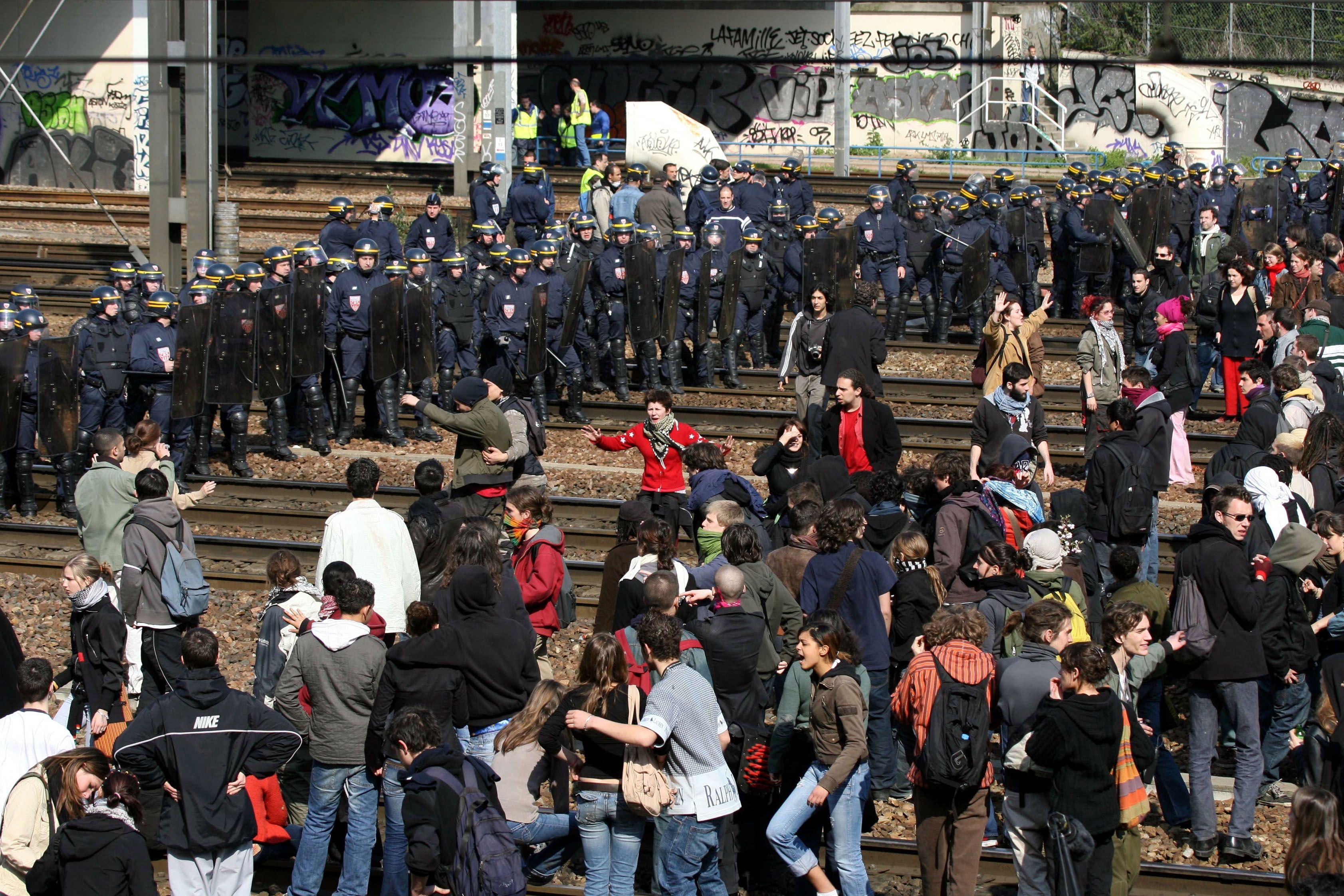 La manifestation contre le CPE a duré des mois, en 2006