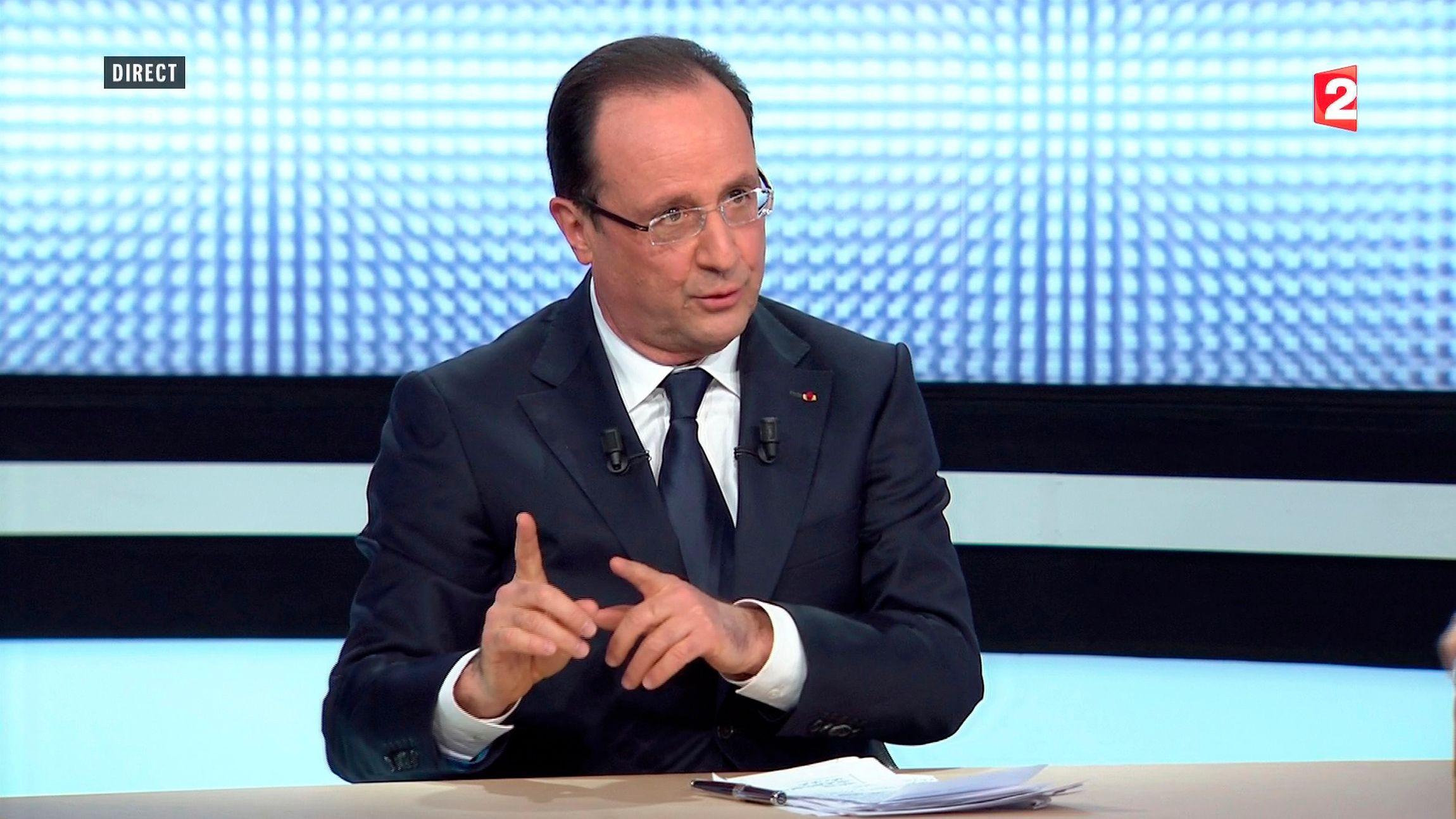 François Hollande était l'invité du JT de France 2 ce jeudi.