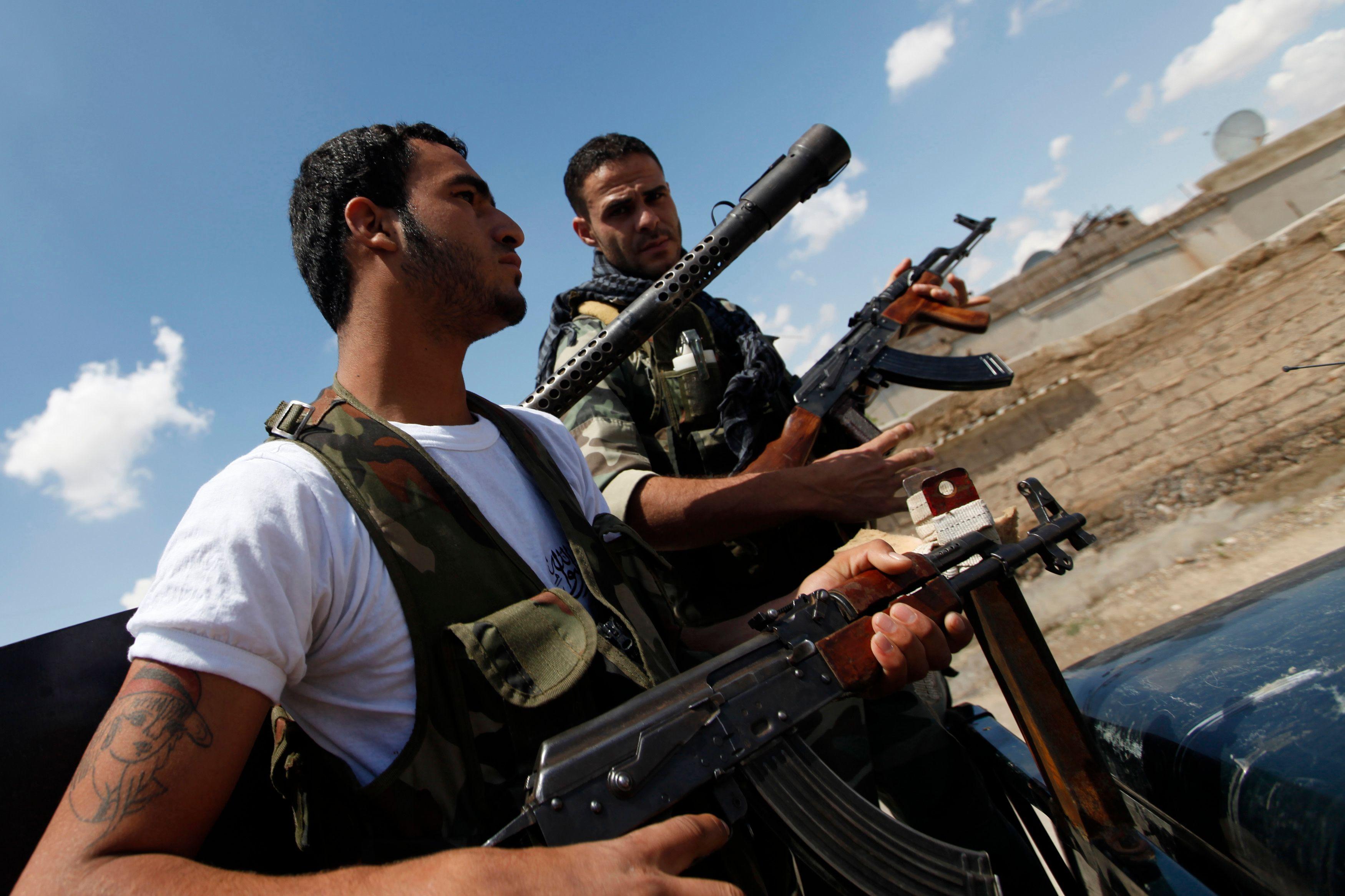 Des combattants de l'Armée syrienne libre.