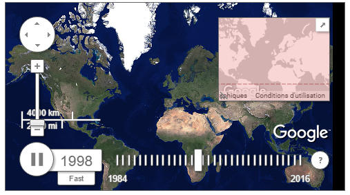 Observez l'évolution du monde vue du ciel depuis 1984 en timelapse