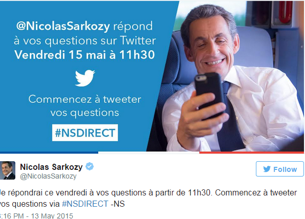 Ce que les questions et les réponses du live tweet Sarkozy révèlent de l'état de la politique