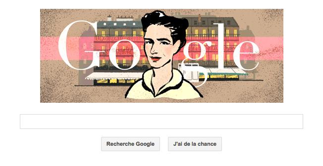 Google Doodle : Simone de Beauvoir est à l'honneur