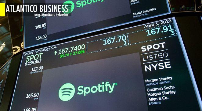 A l'heure où les stars américaines de la Tech déchantent et font pleurer leurs actionnaires, Spotify, l'Européenne, enflamme la bourse