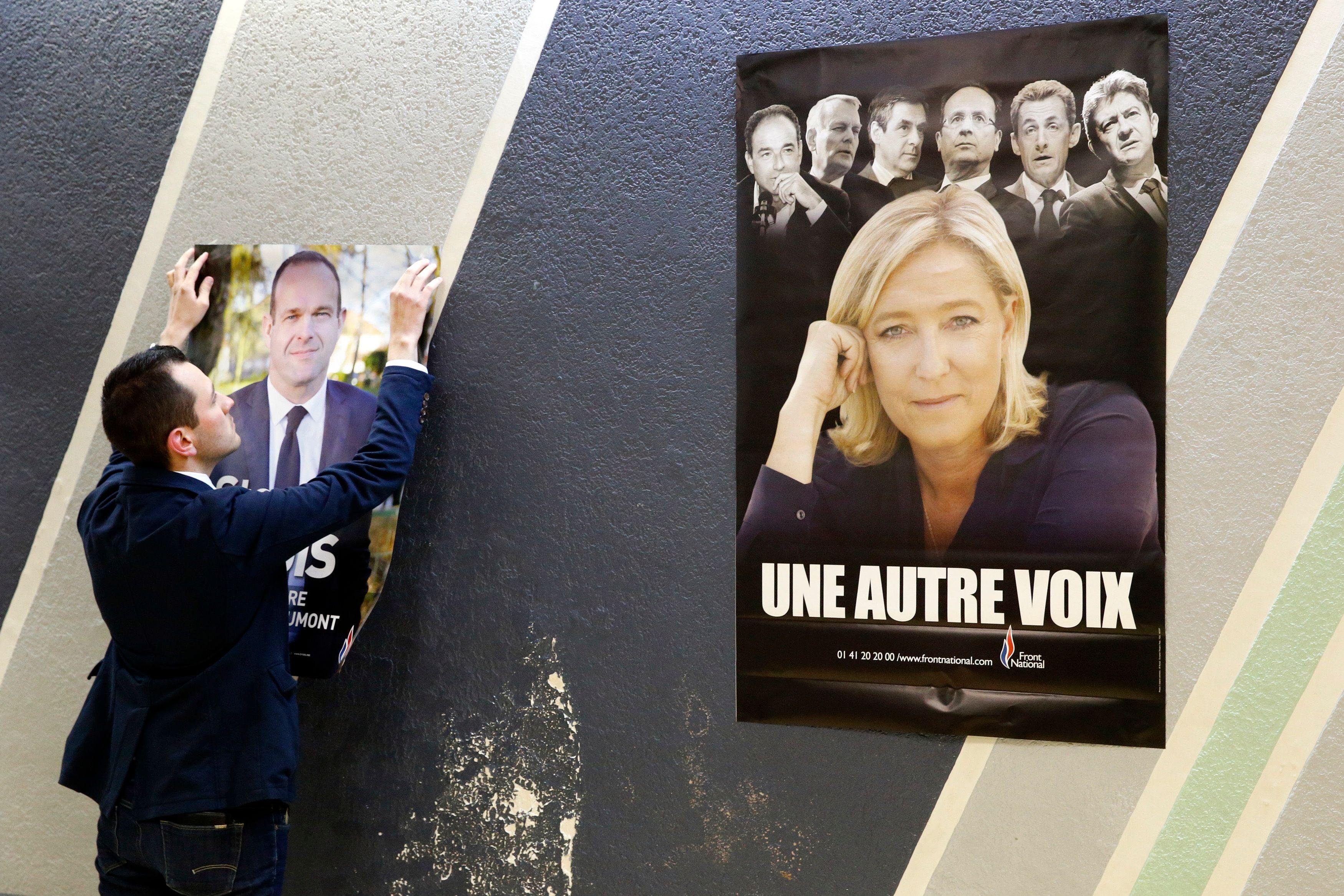 55% des sympathisants de l'UMP et 62% de ceux du FN souhaiteraient un rapprochement aux élections locales. Photo : Steeve Briois