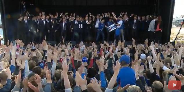 Le retour au pays triomphal pour les joueurs islandais, le 4 juillet 2016.