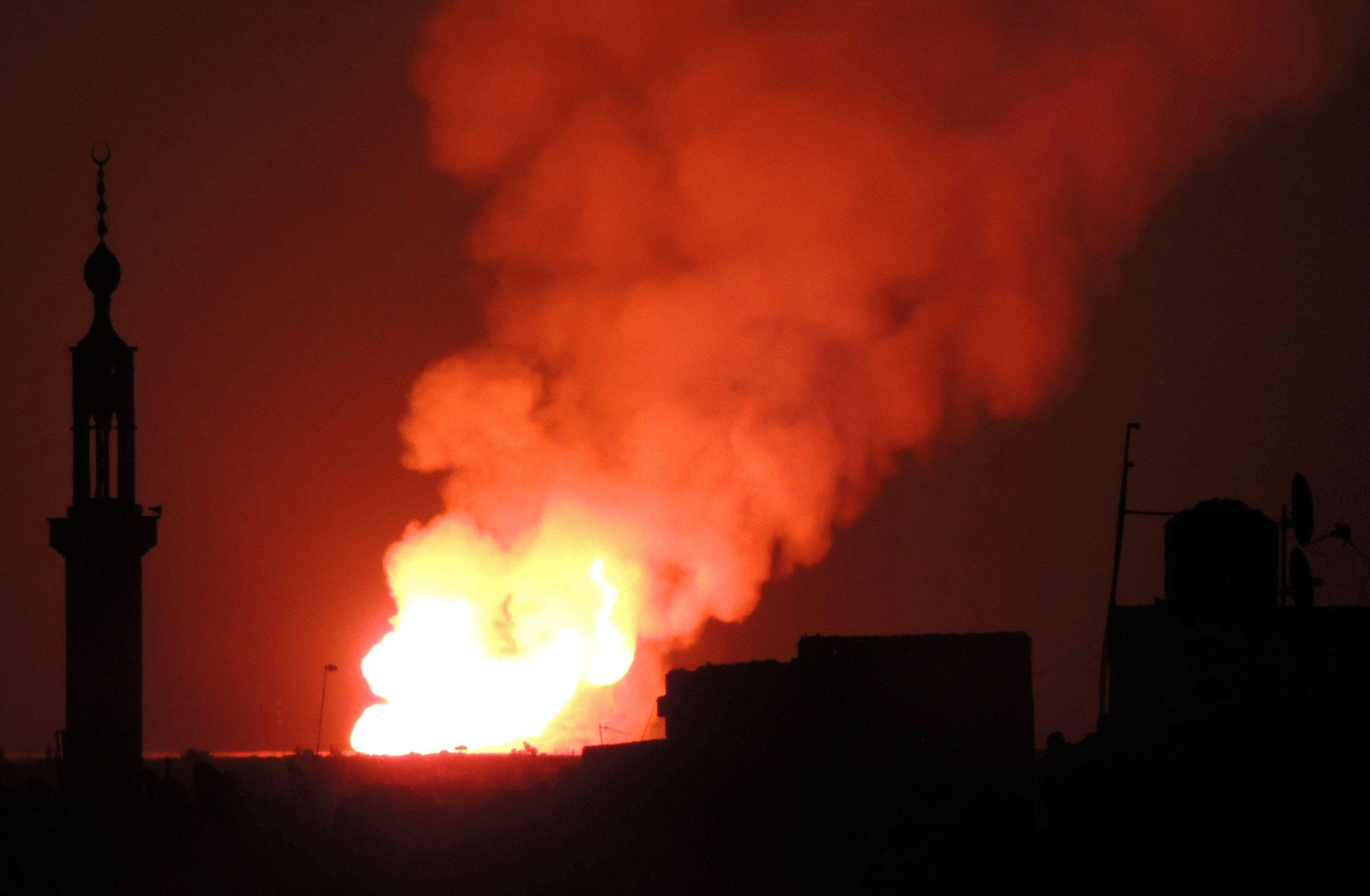 Explosion lors d'un combat en Syrie.