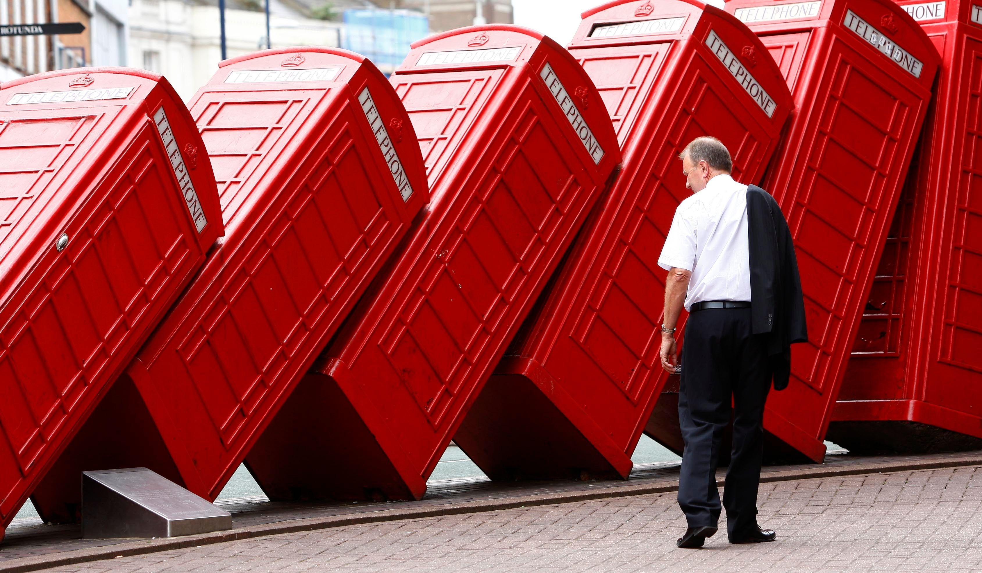 Des cabines téléphoniques britanniques.