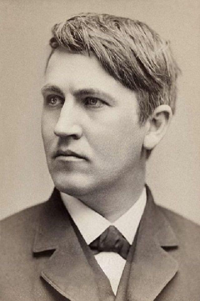 Thomas Edison, en 1878.
