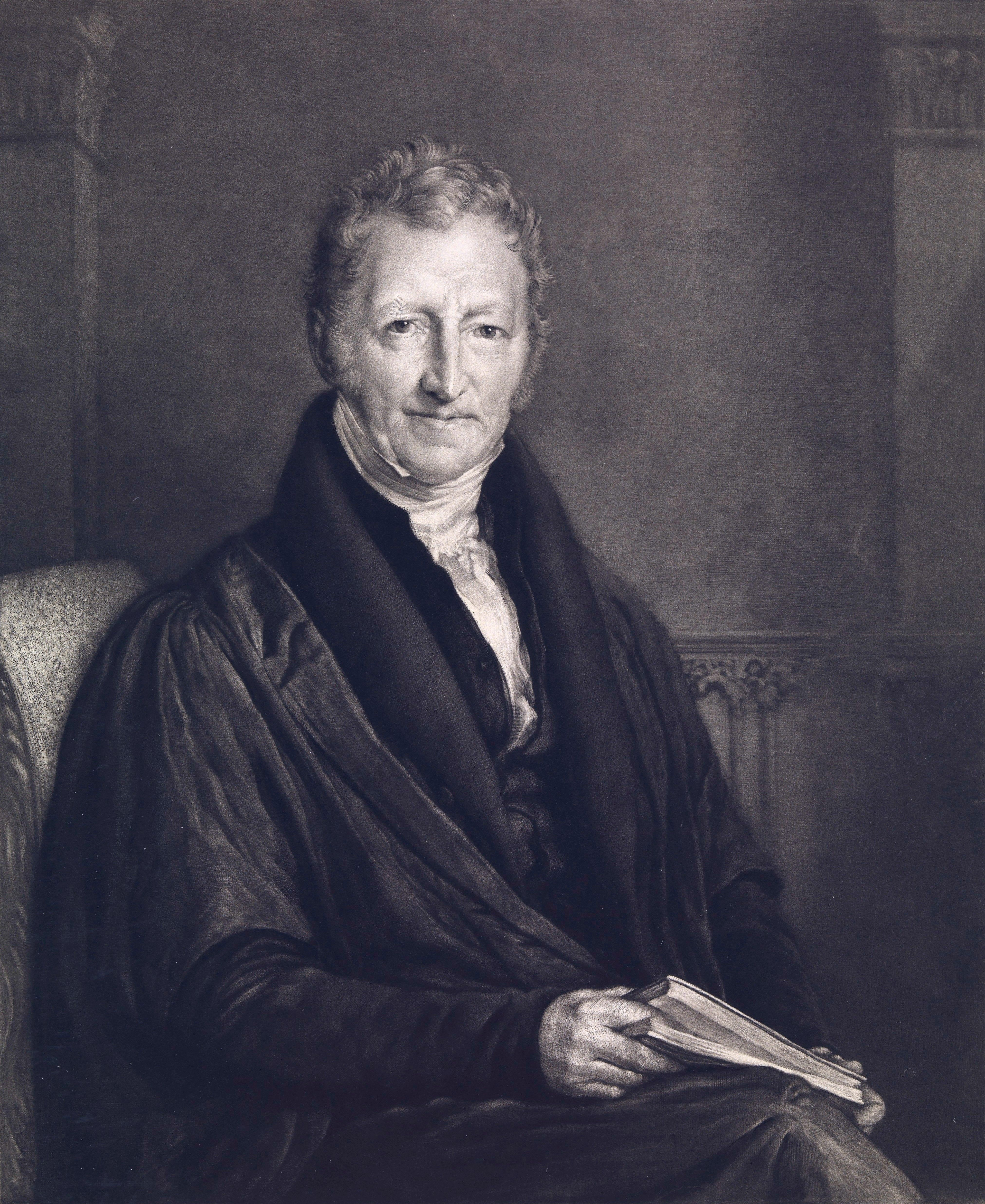 Thomas Robert Malthus va, par ses écrits, acquérir une notoriété internationale parce qu'il va prôner une limitation des naissances.