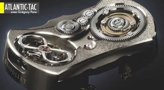 Le raffinement esthétique poussé à l'extrême du mouvement mécanique de la Badollet Ivresse, qu'on ne découvre qu'au verso de la montre. Très gongorisant, non ?